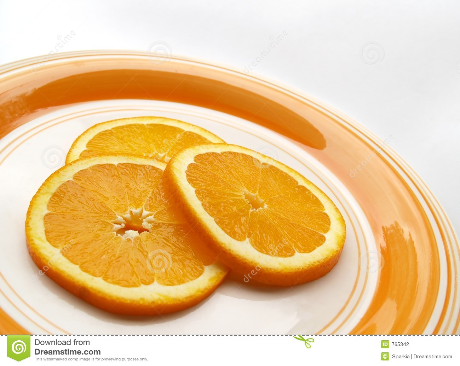 Oranje plakken