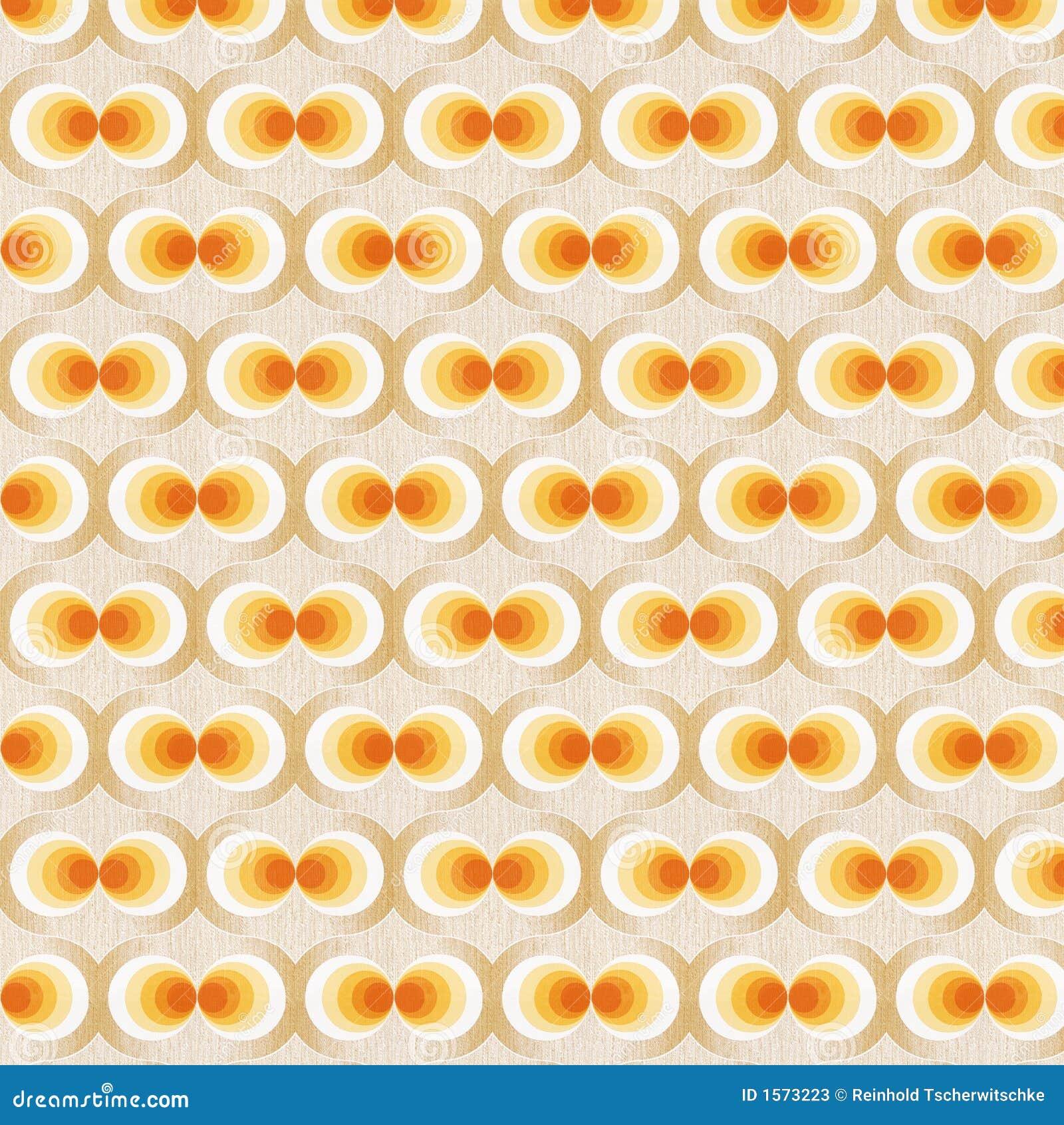 Bedwelming Oranje Retro Behang stock afbeelding. Afbeelding bestaande uit @EI05