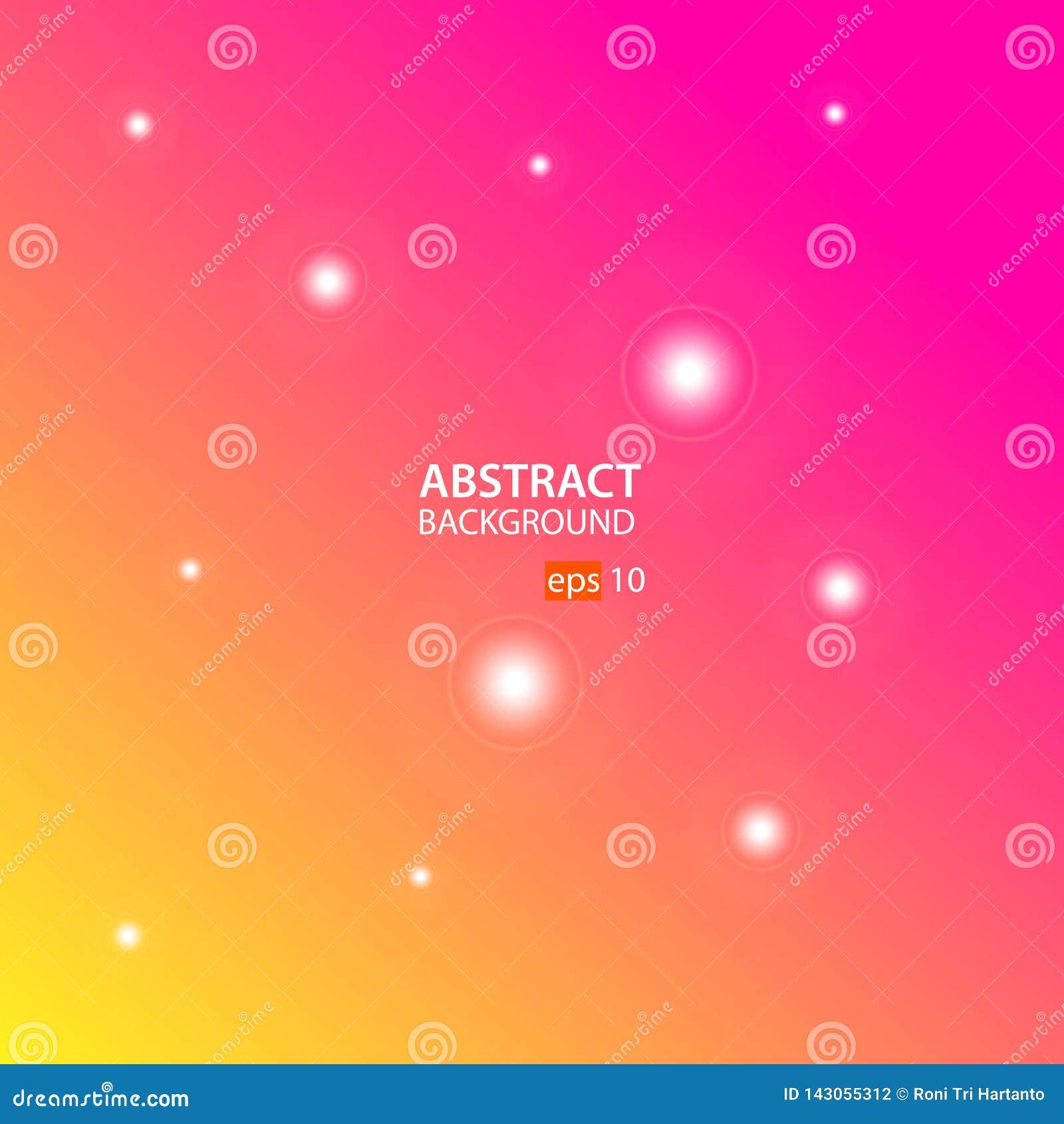 Oranje, Roze Abstracte Vector Als achtergrond
