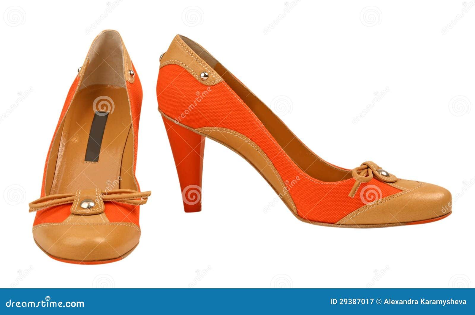 oranje schoenen