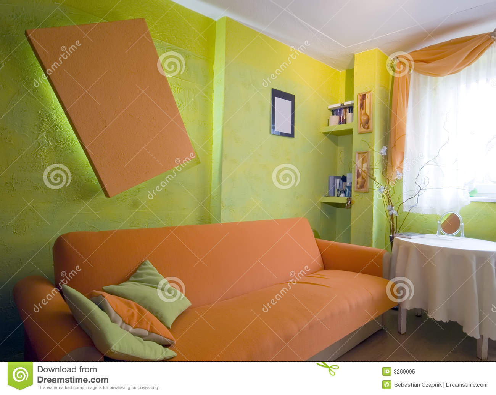 Oranje slaapkamer royalty vrije stock foto beeld 3269095 - Decoratie vrouw slaapkamer ...