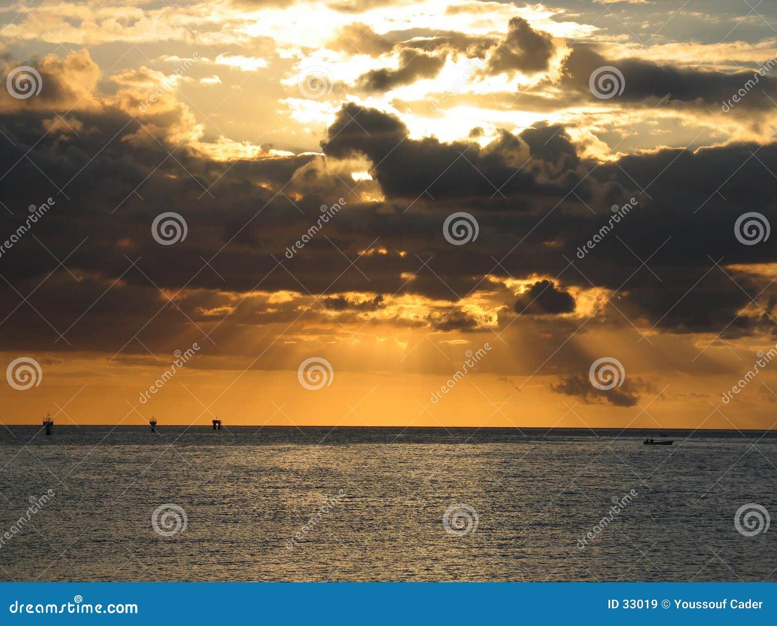 Oranje Stralen van licht