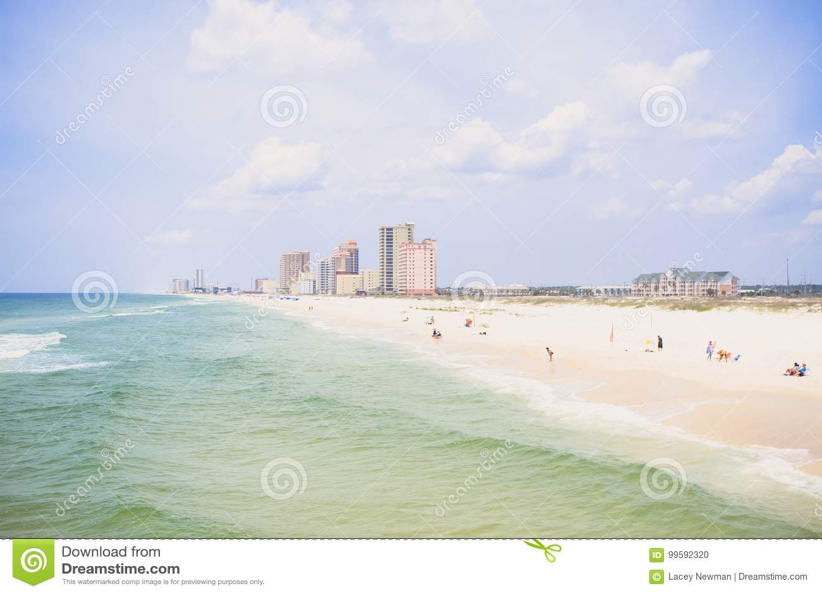 Oranje strandkust