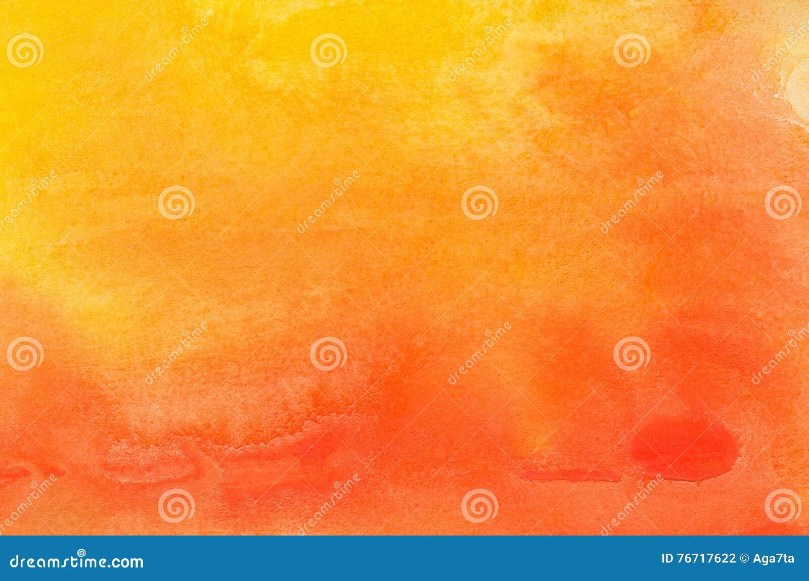Oranje waterverf geschilderde textuur als achtergrond