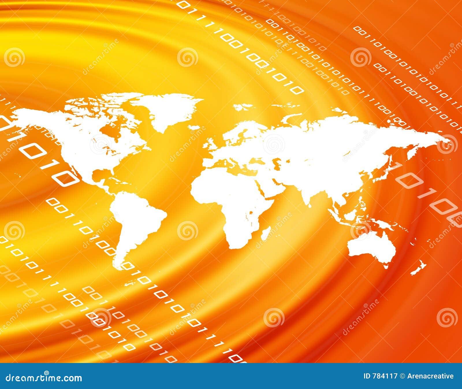 Oranje wereldkaart
