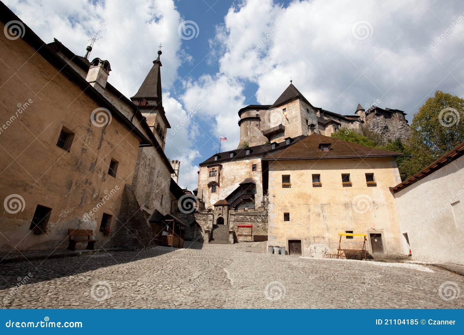 Orava castle courtyard