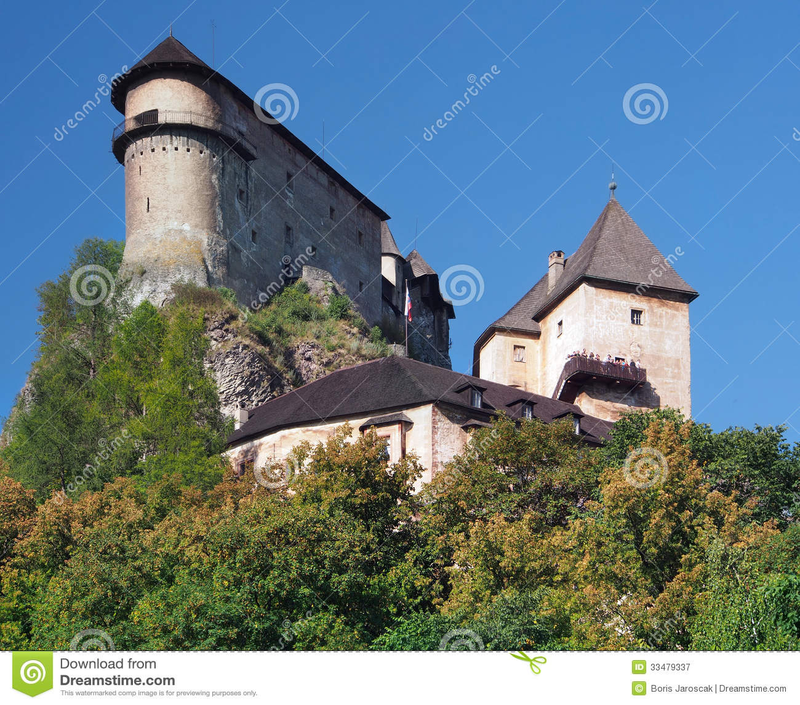 Orava Castle on a high rock, Slovakia