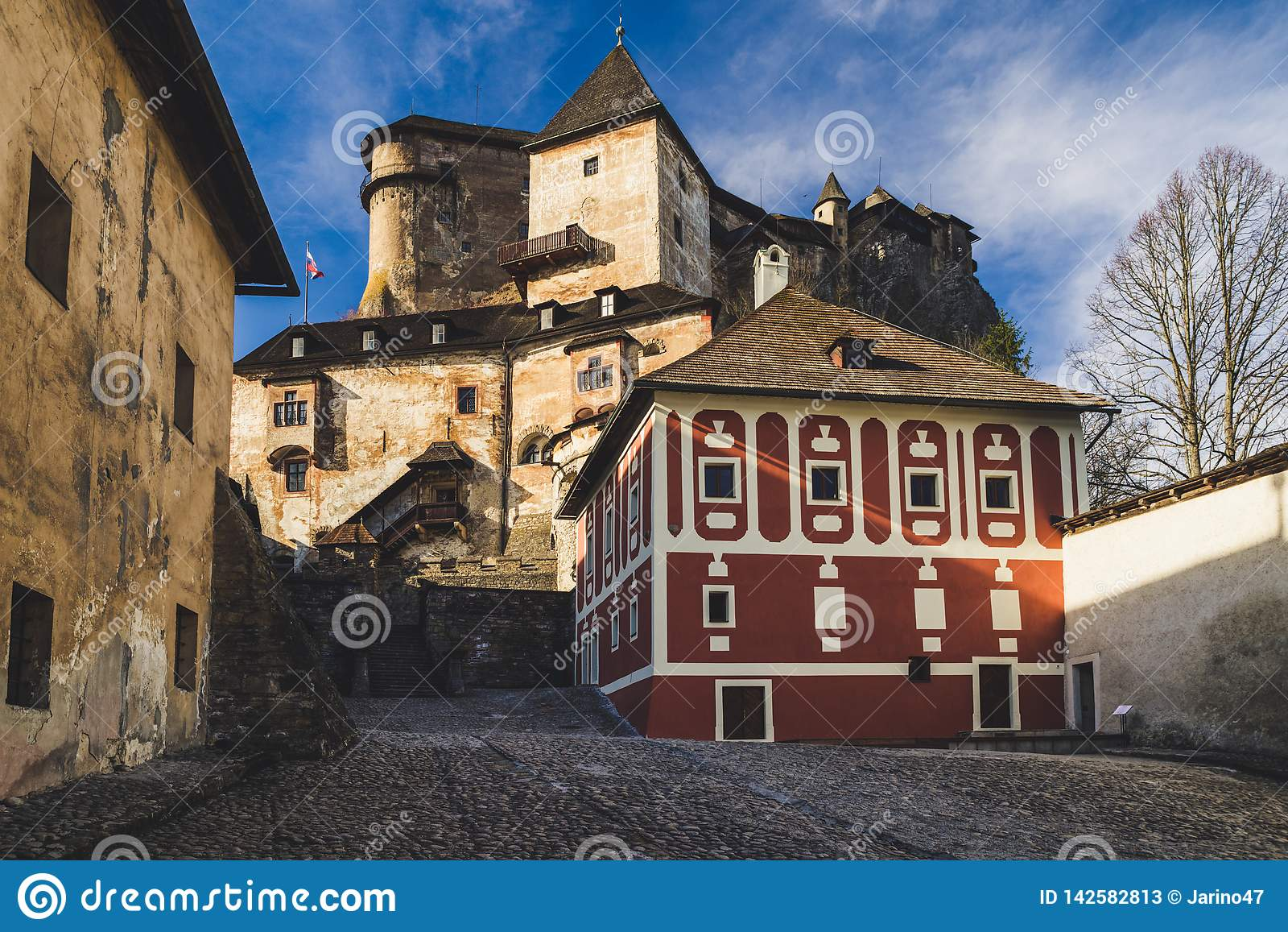 Courtyard at Orava castle, Slovakia