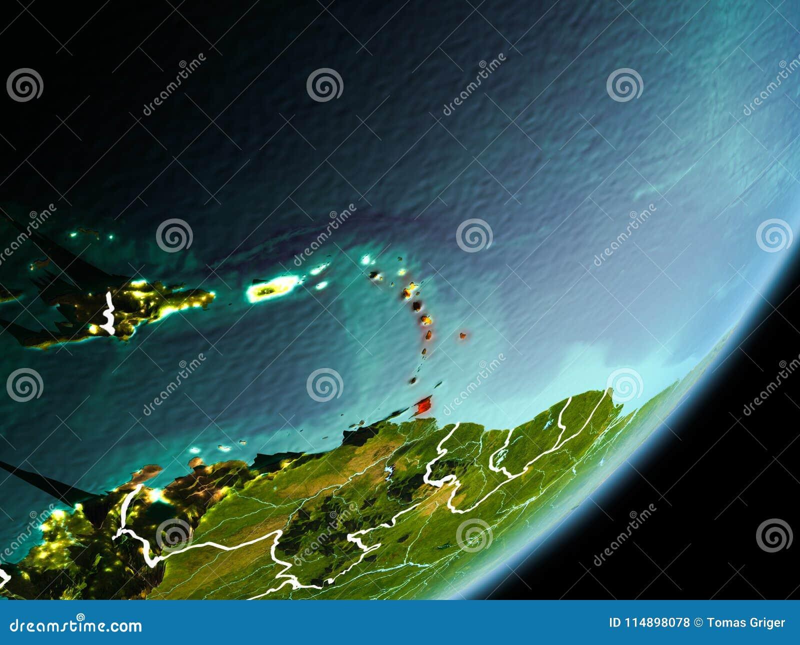 Orbit view of Caribbean