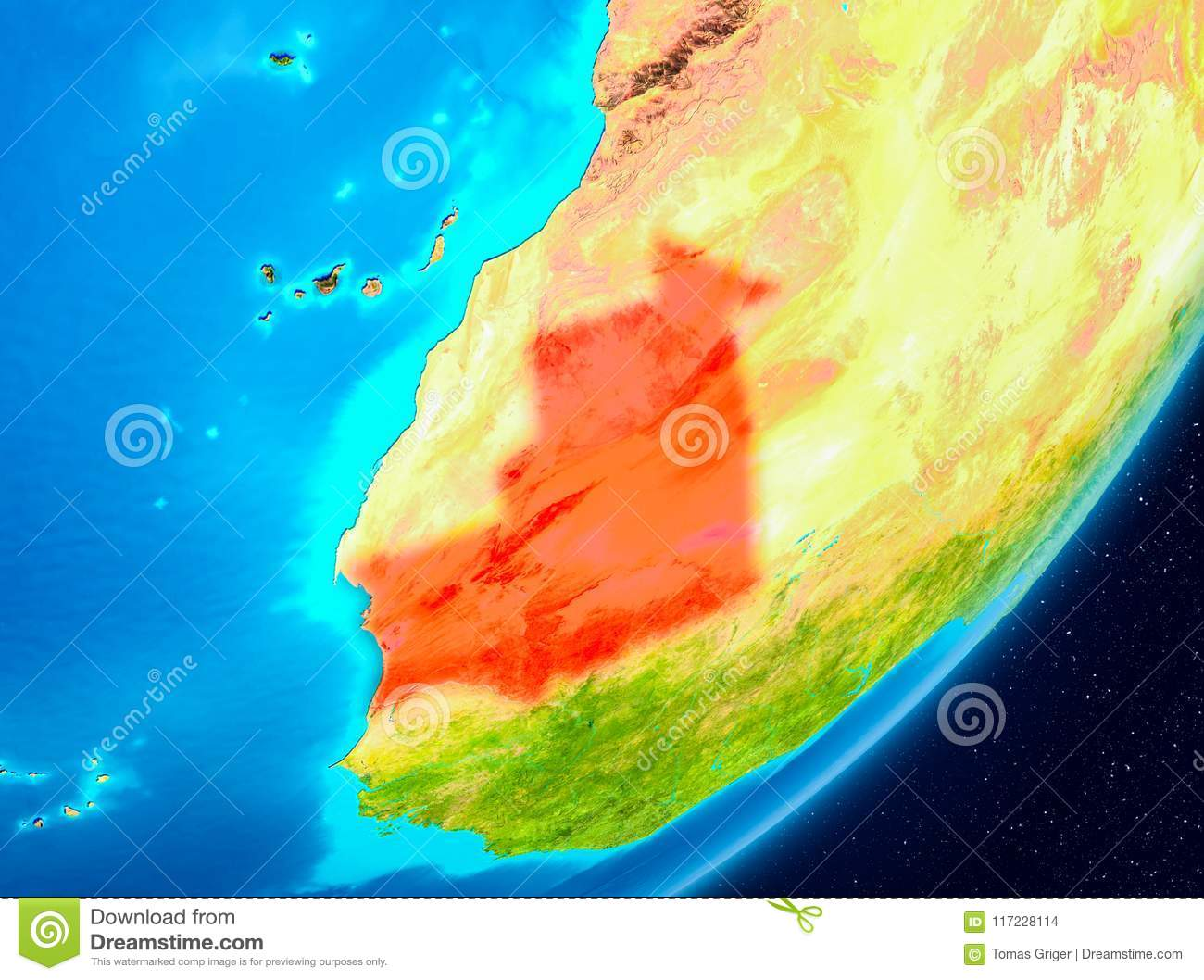Orbit View Of Mauritania In Red Stock Illustration ... on satellite map of caribbean islands, satellite map of tunisia, satellite map of trinidad and tobago, satellite map of vatican city, satellite map of germany, satellite map of the bahamas, satellite map of haiti, satellite map of czech republic, satellite map of iceland, satellite map of somalia, satellite map of united states of america, satellite map of canada, satellite map of the gambia, satellite map of saipan, satellite map of kosovo, satellite map of the vatican, satellite map of solomon islands, satellite map of ireland, satellite map of brunei darussalam, satellite map of qatar,