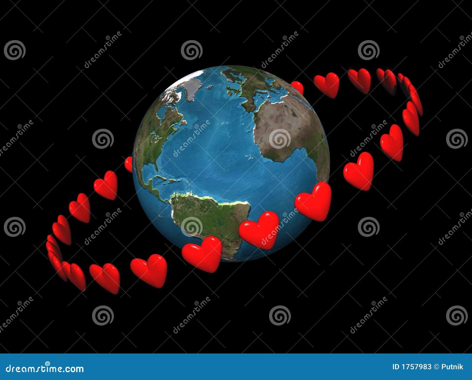 Download Orbiting hearts stock illustration. Illustration of astronomy - 1757983