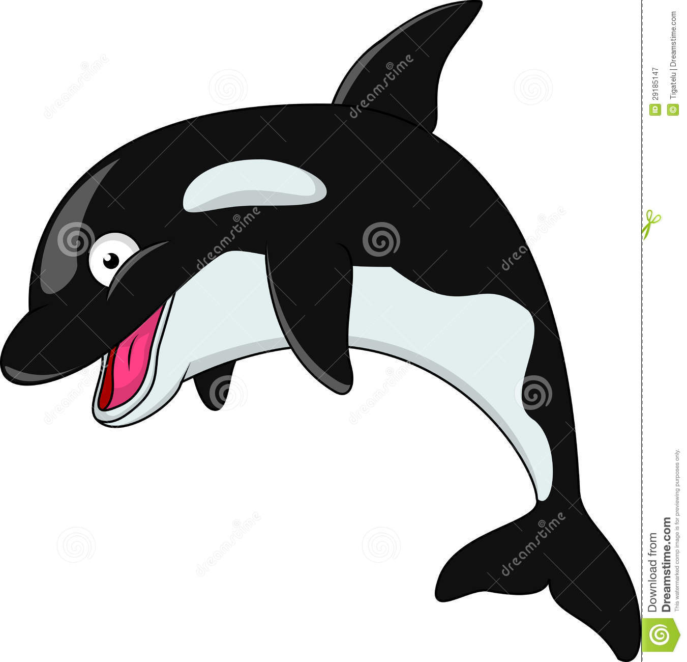 Illustration of... Orca Whale Cartoon