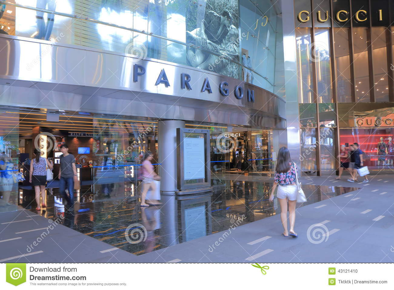 Orchard Road Shopping Singapore Editorial Image Image Of Popular Attraction 43121410