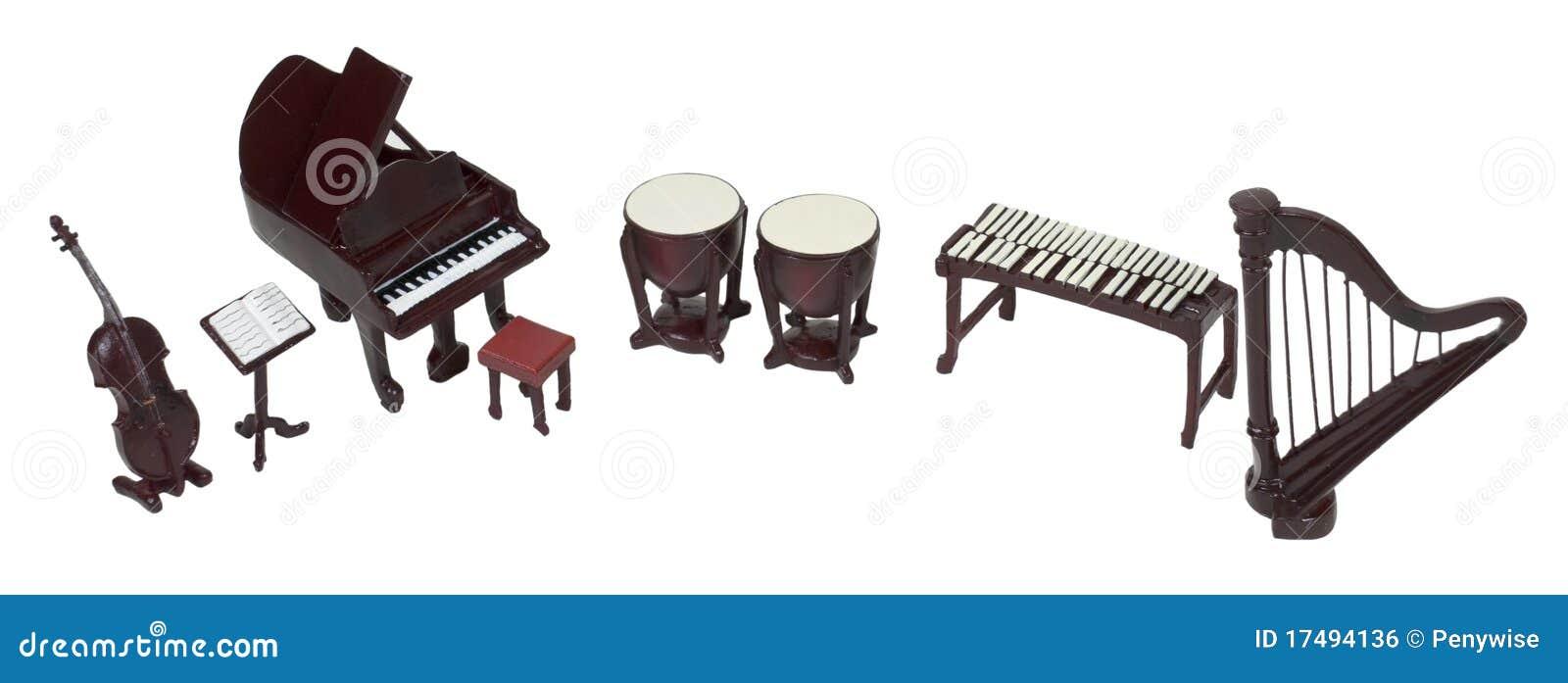 orchester instrumente stockfoto bild von musikalisch 17494136. Black Bedroom Furniture Sets. Home Design Ideas