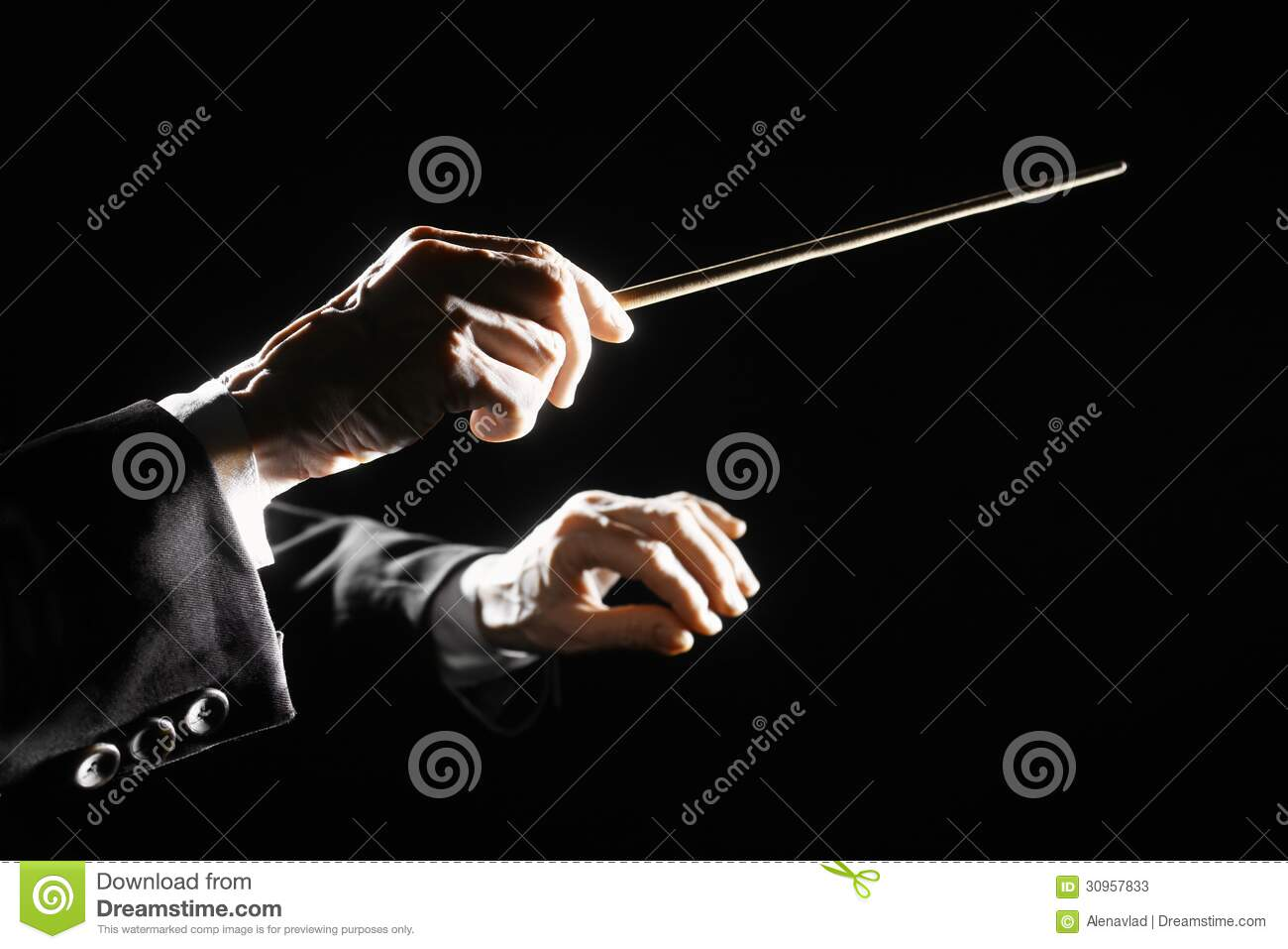 Orchestra Conductor Hands Baton Stock Photos - Image: 30957833