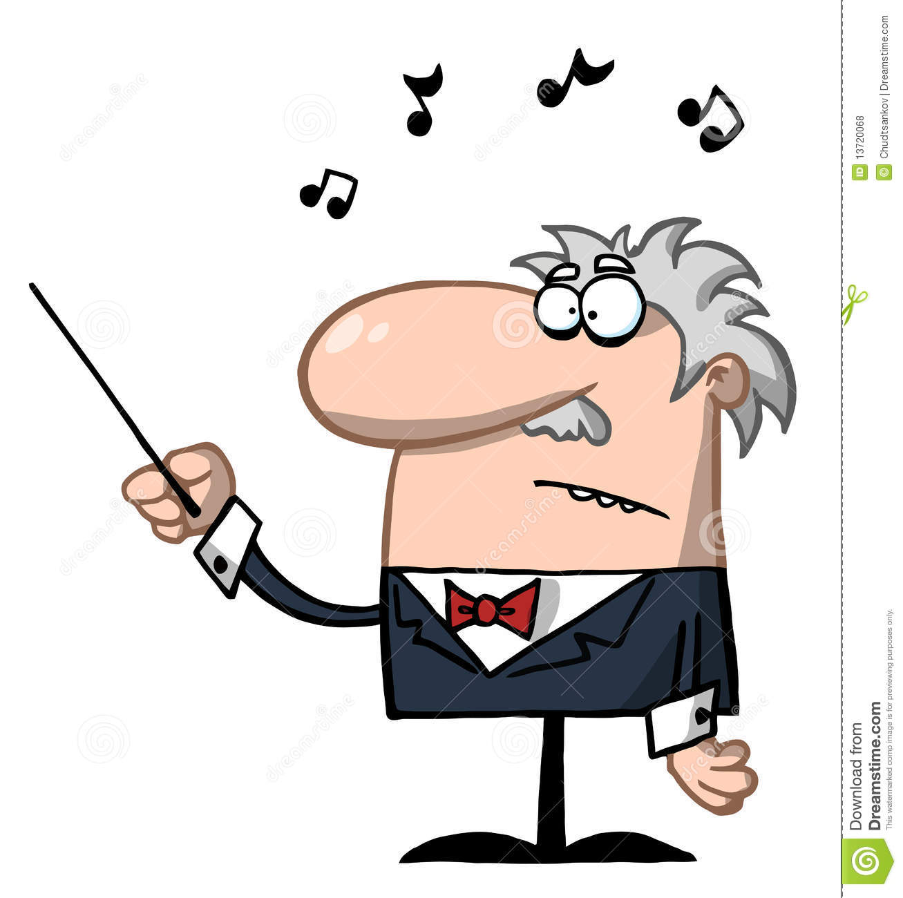 Marching Band Director Clipart Illustrations & clipart