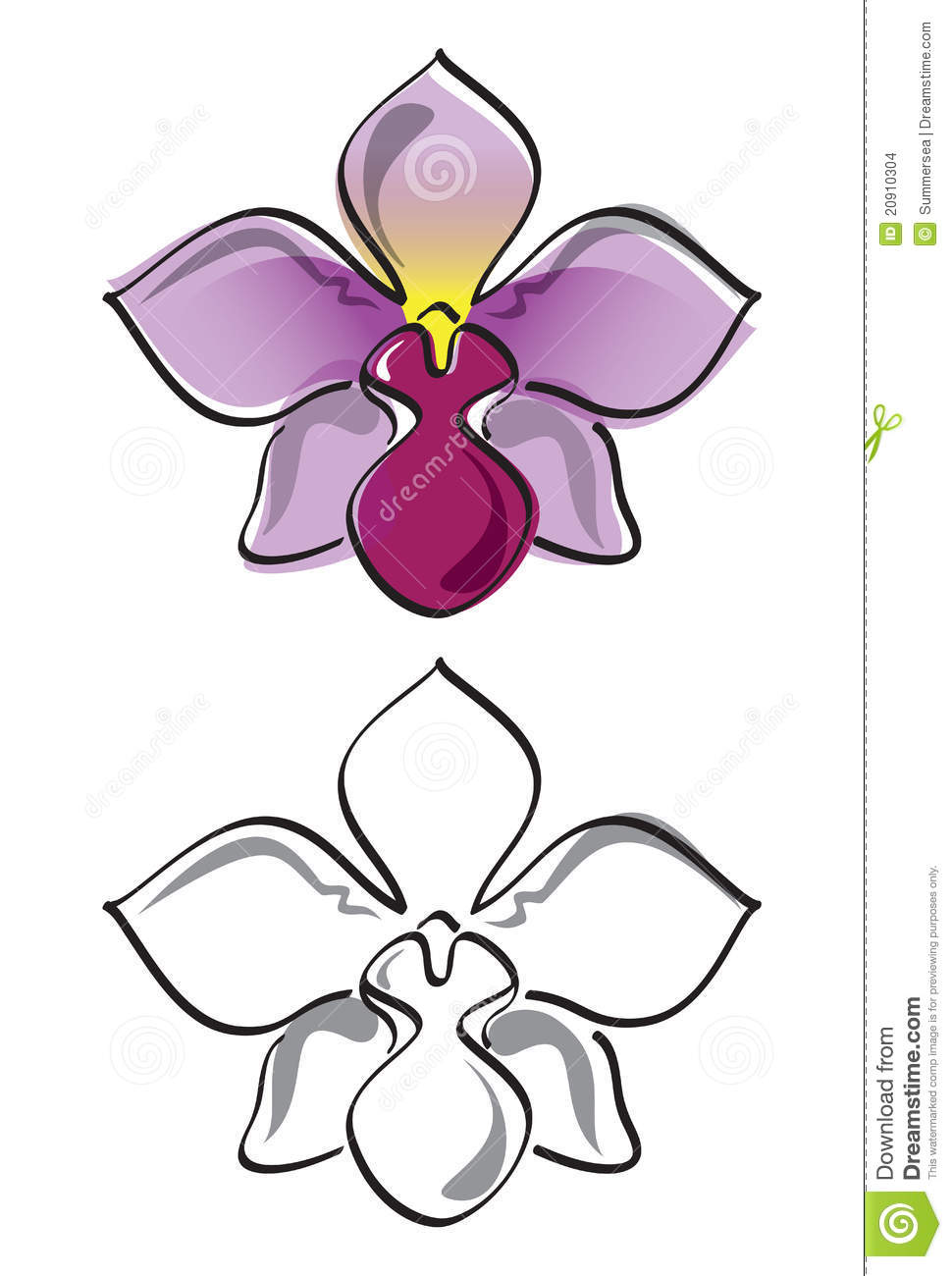 orchid flower vector stock images image 20910304 vector brush strokes free vector brush strokes eps