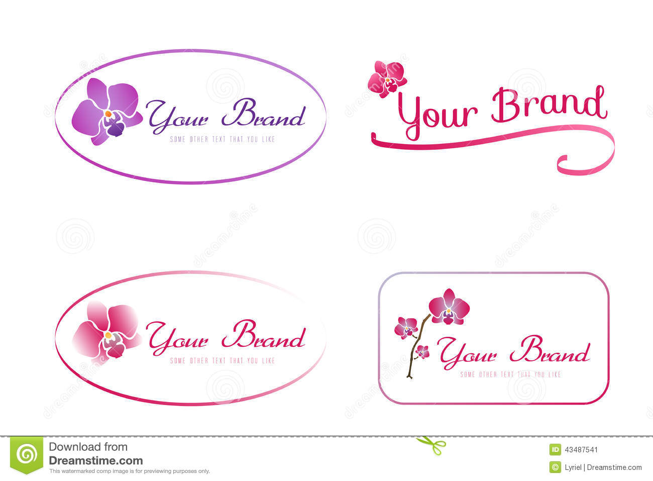 Orchid Logo Stock Vector Image 43487541