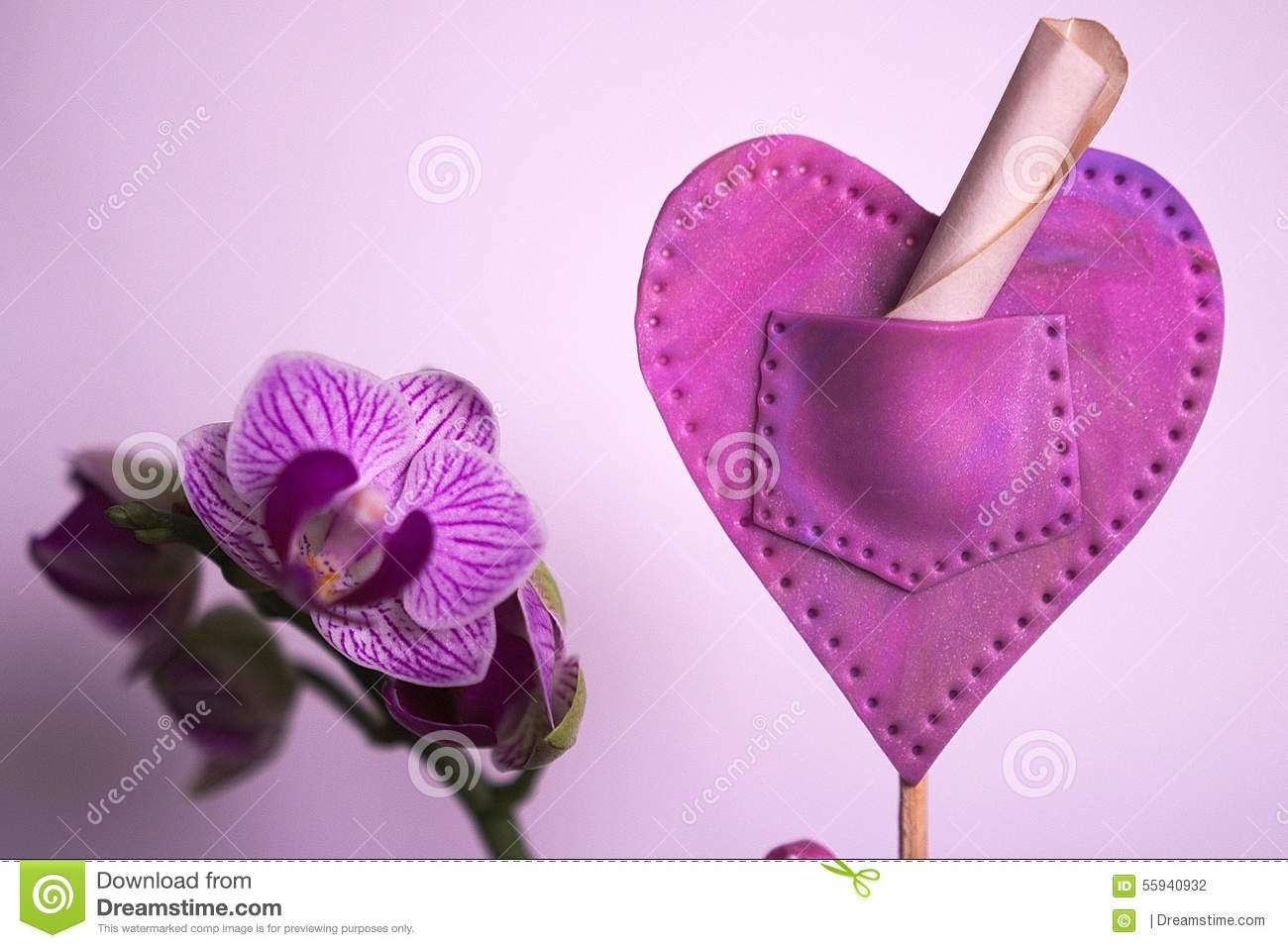 Orchid and polymer heart