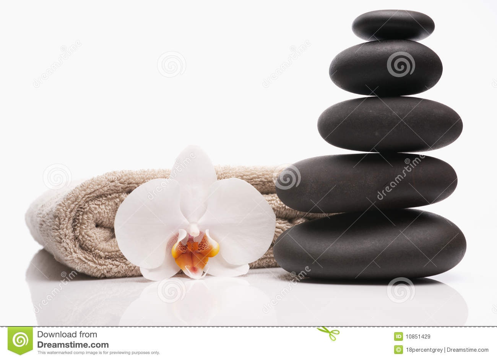 Orchid spa πετσέτα πετρών