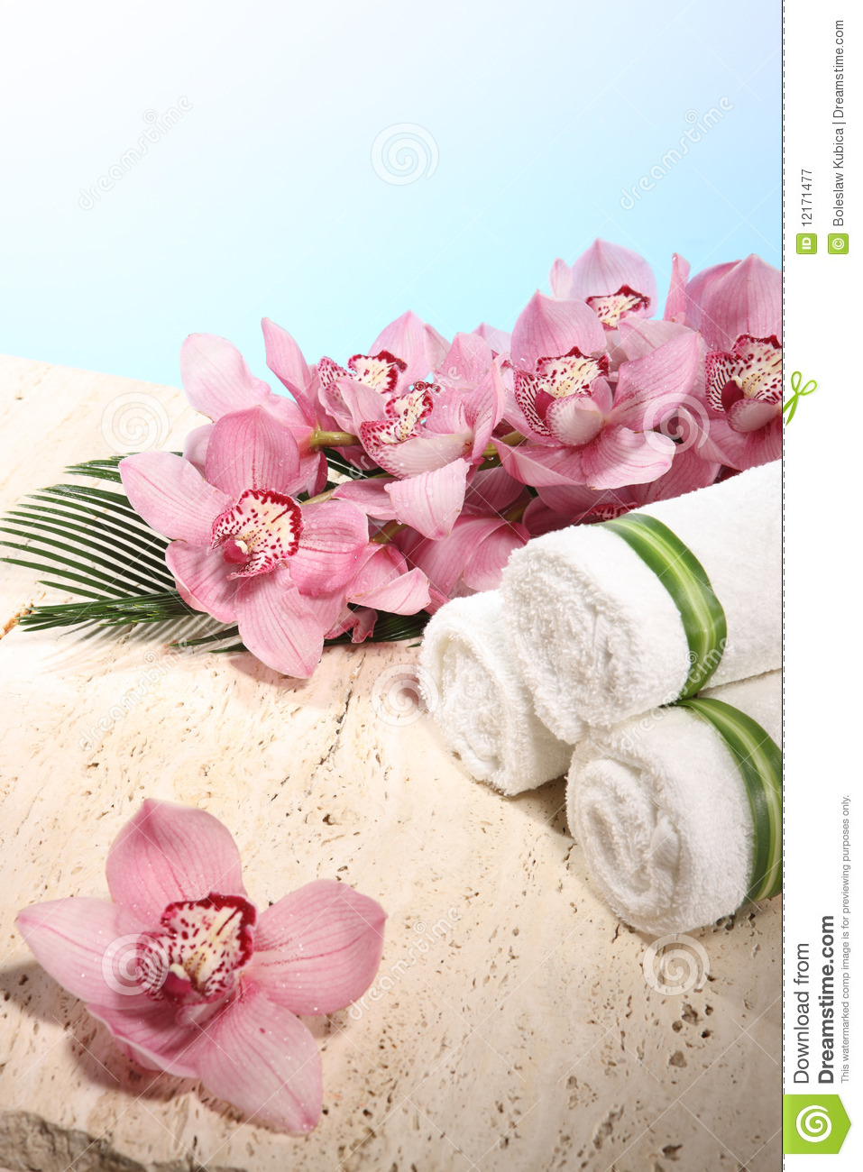 towel spa. Contemporary Spa Download Orchid And Towel In Spa Display Stock Image  Of Wrap White To L