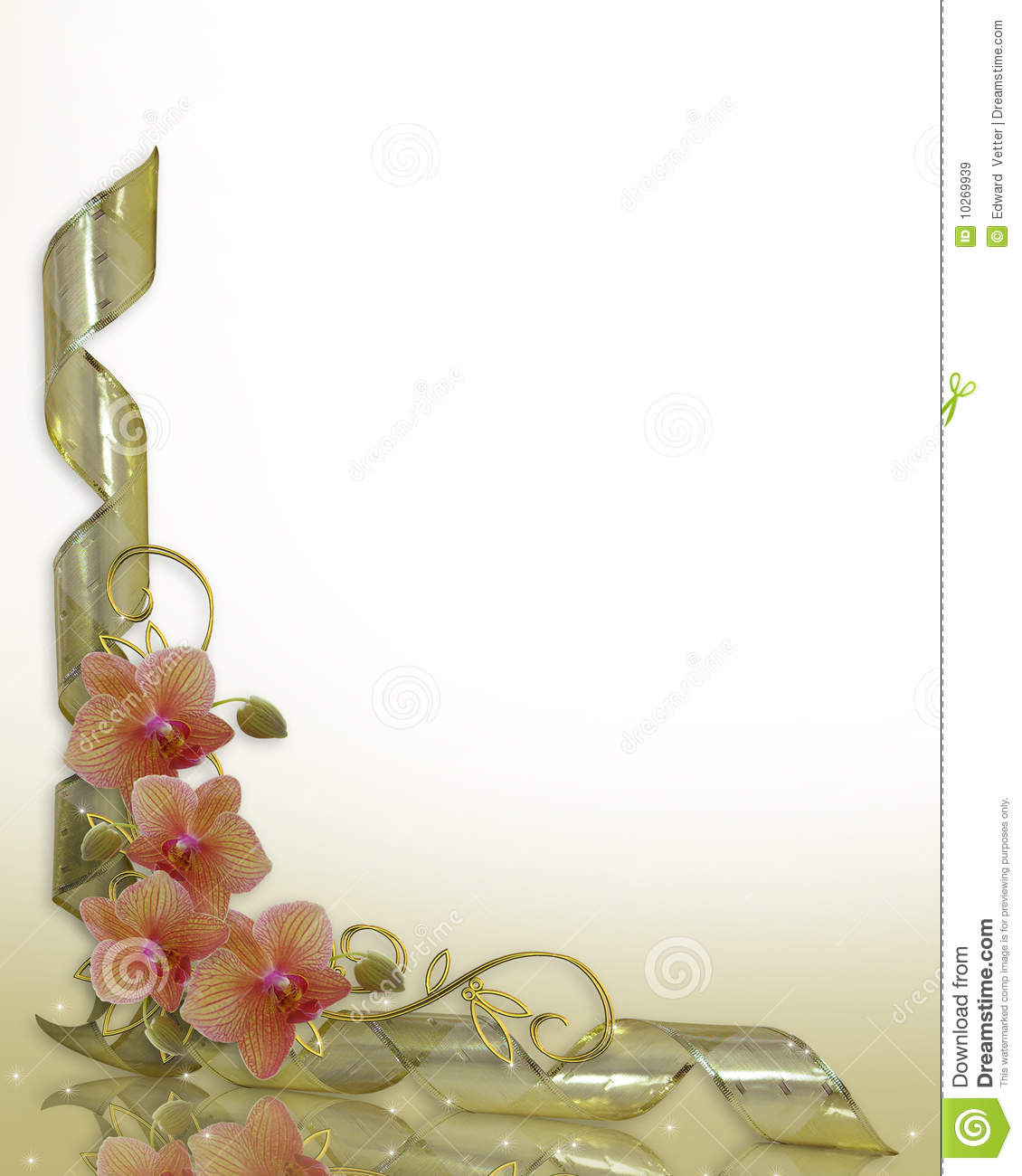 Orchid Clipart Border