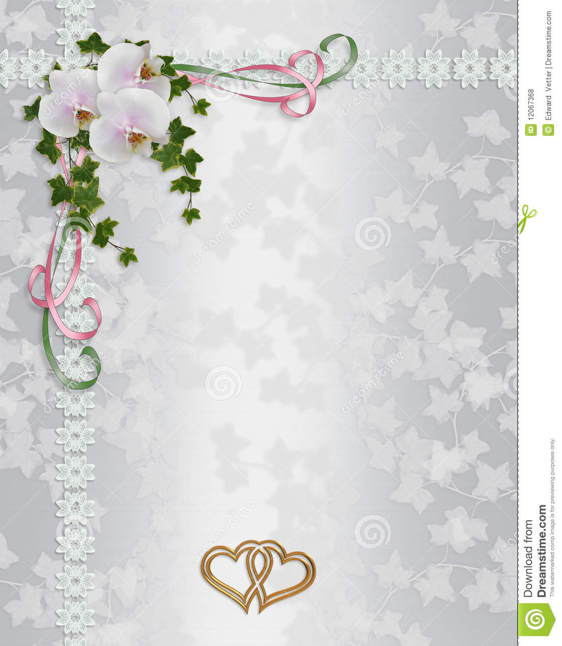 Orchids Wedding Invitation Border Stock Illustration - Image: 12067368