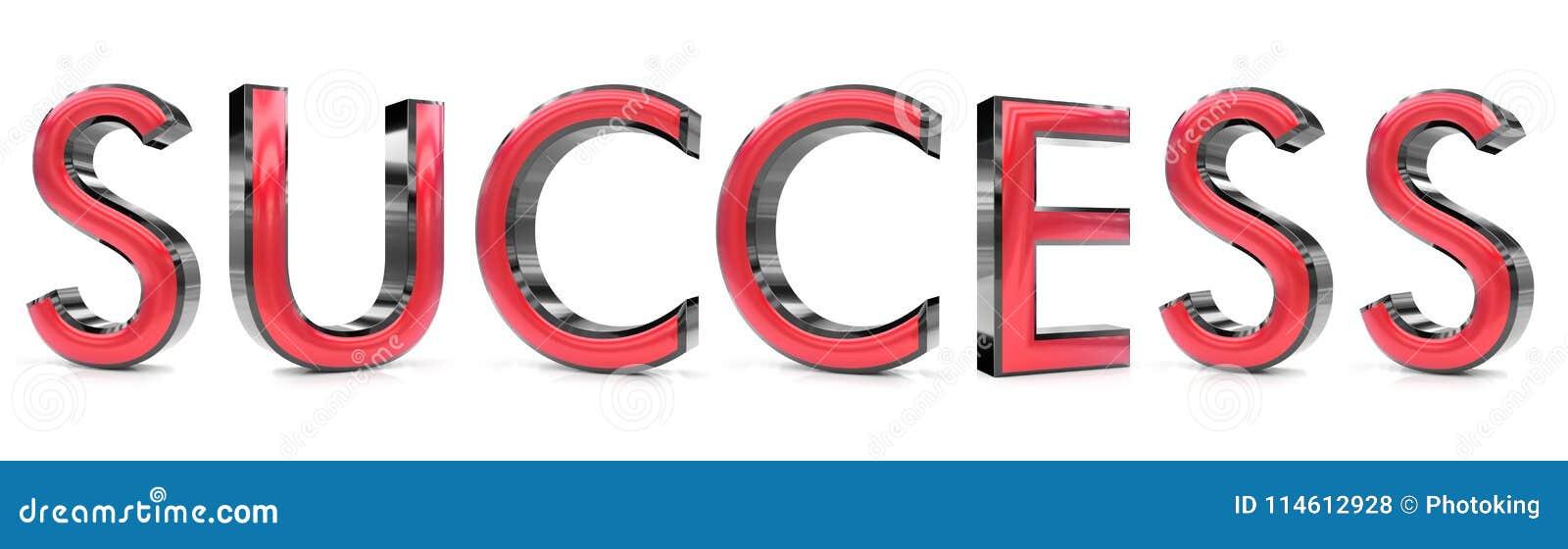 Ord för framgång 3d