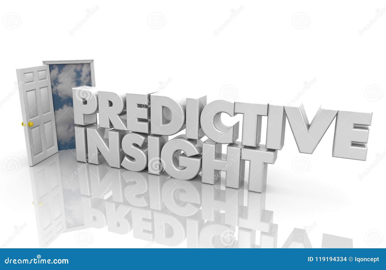 Ord för information om intelligens för öppen dörr för Predicitve inblick 3d R