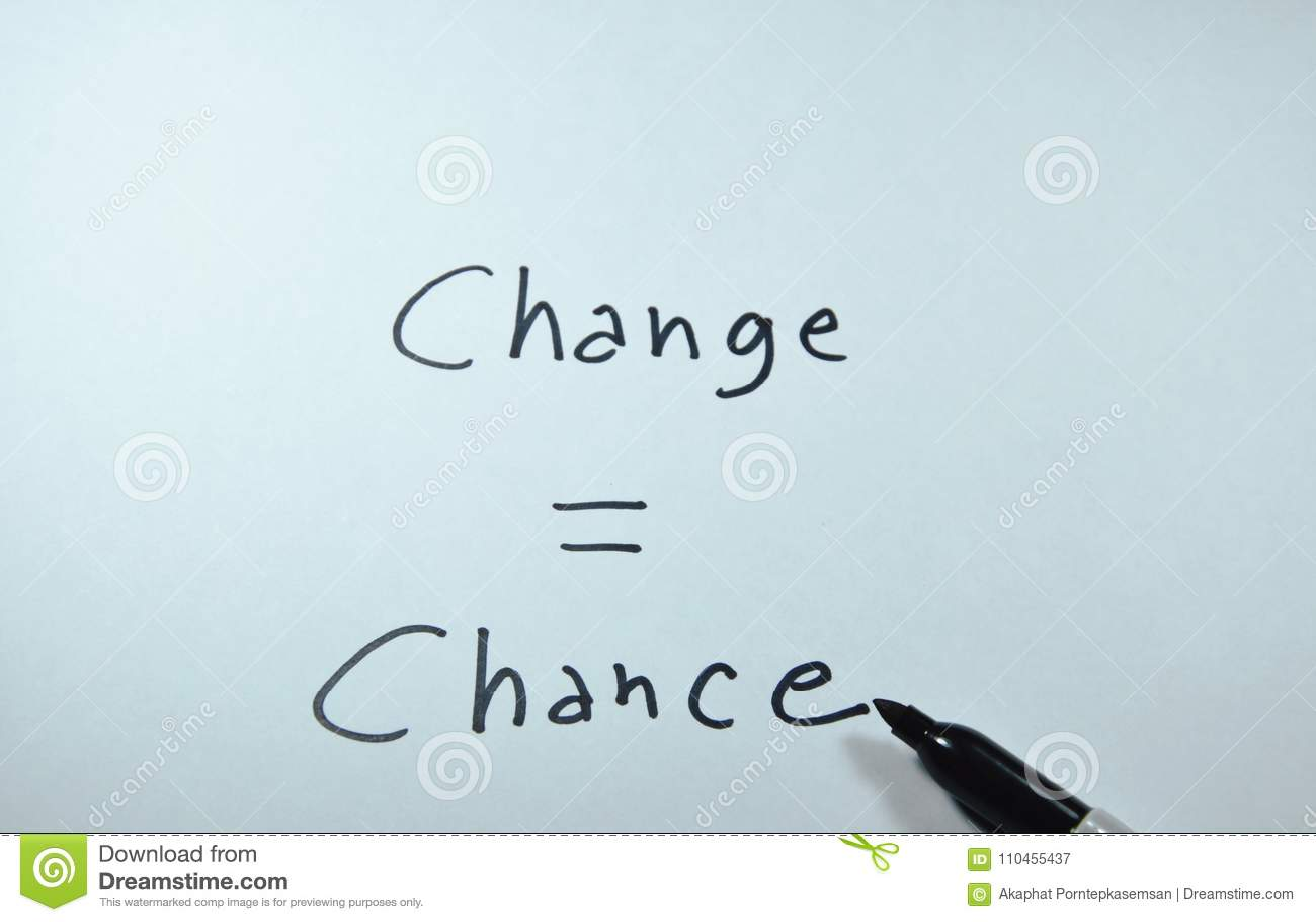 Ord för möjlighet för jämlike för pennhandstiländring på vitbok