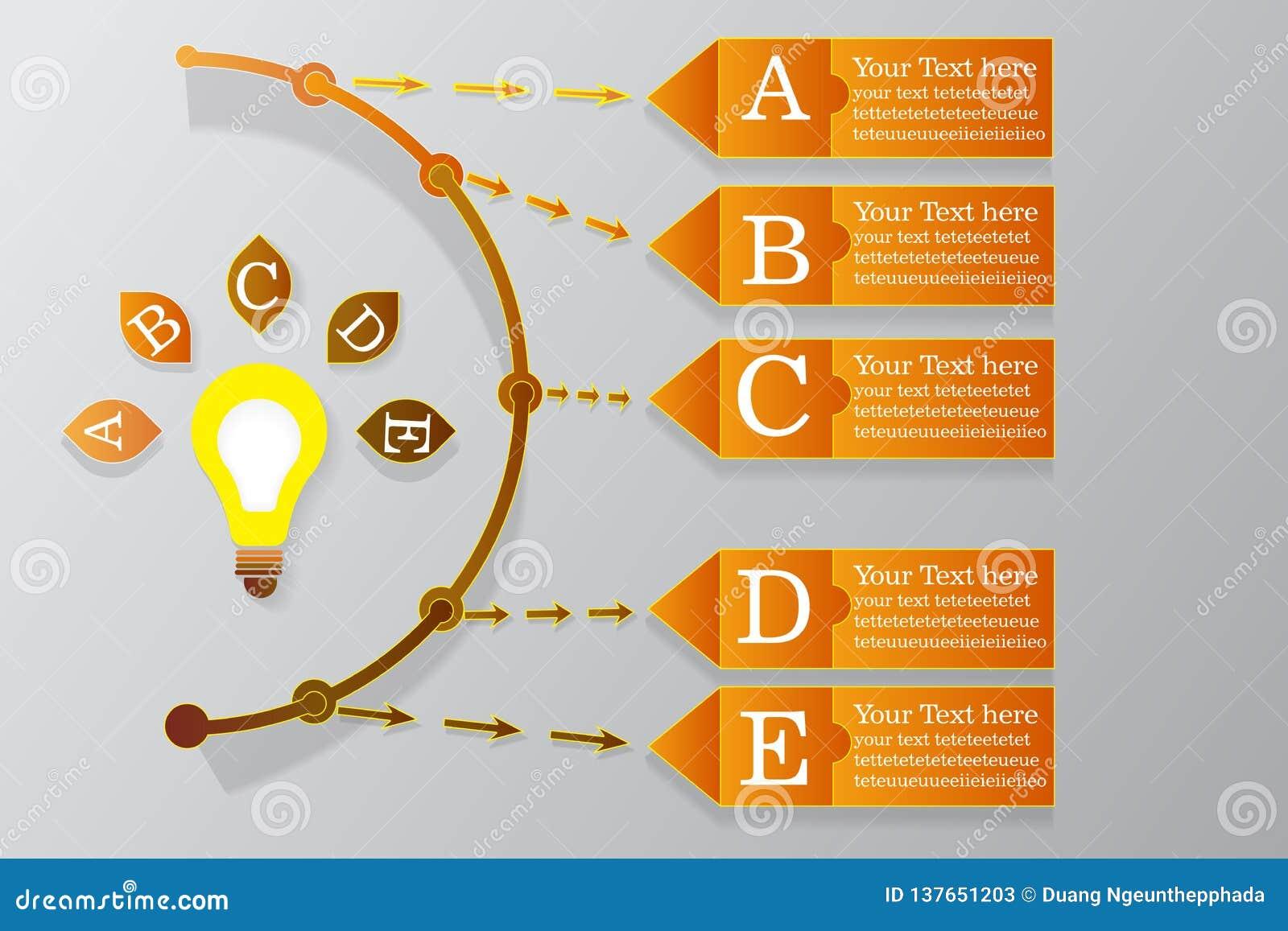 Ord för sida för vektor för Infographic timelinedesign