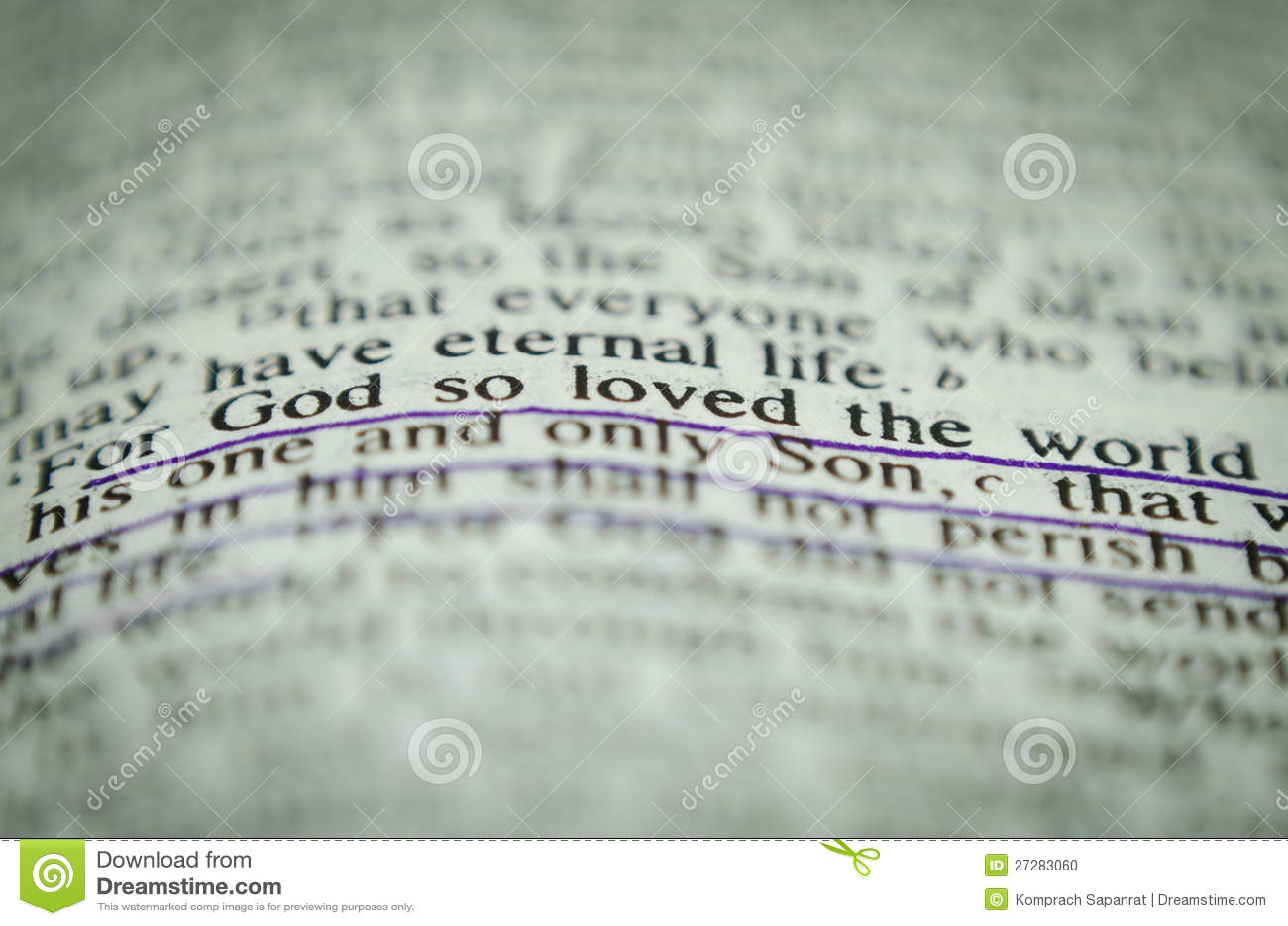 Ord i bibeln John 3 16