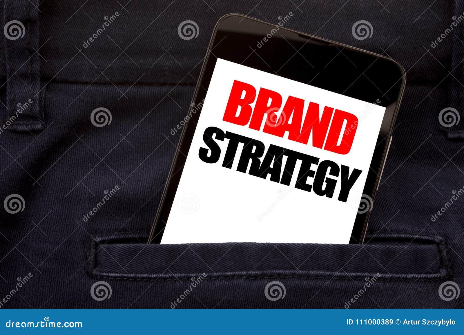 Ord som skriver märkesstrategi Affärsidé för att marknadsföra mobiltelefonen för telefon för idéplan den skriftliga, mobiltelefon