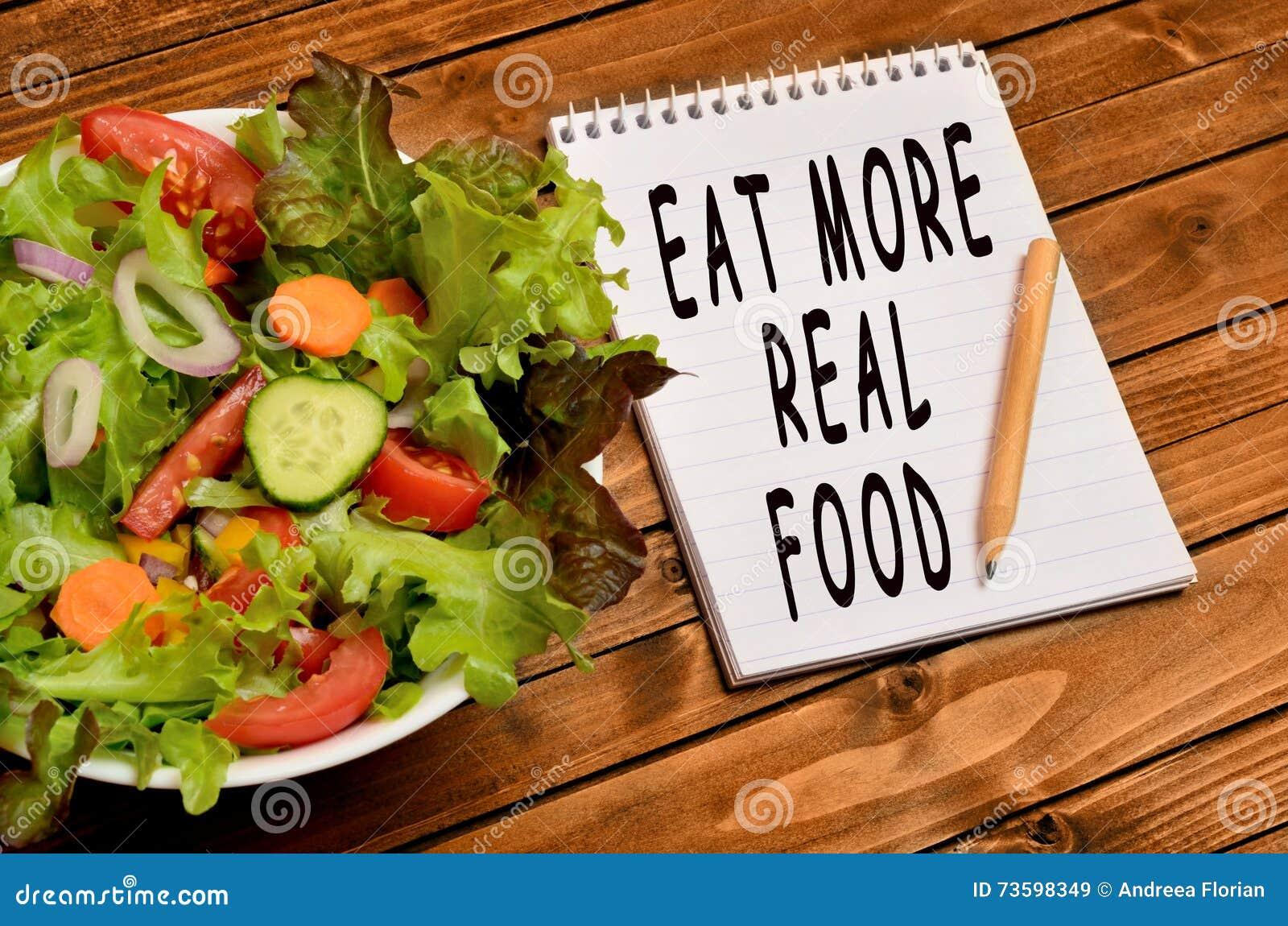 Orden äter verkligare mat
