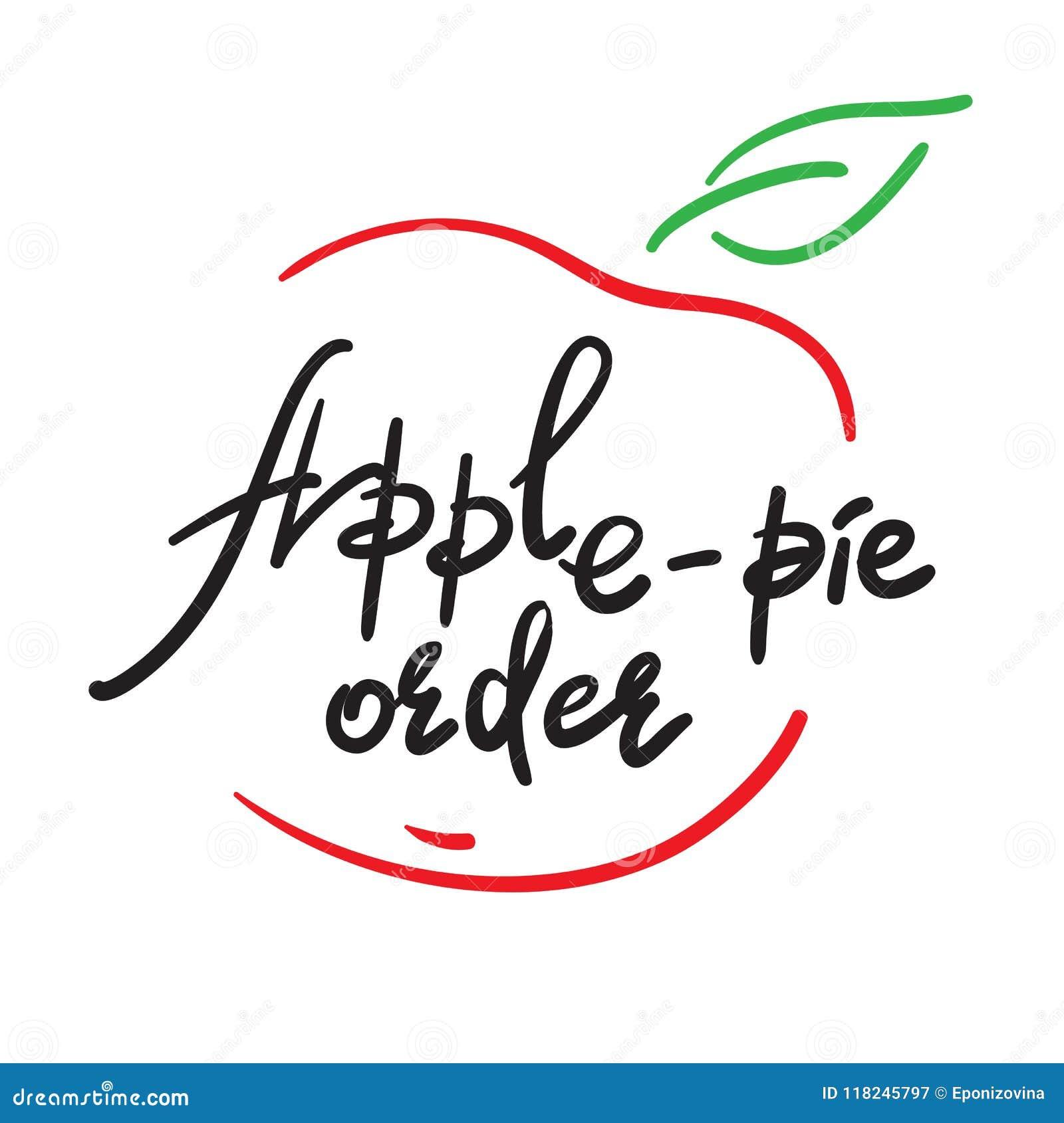 Orden De La Apple Empanada Cita De Motivación Divertida