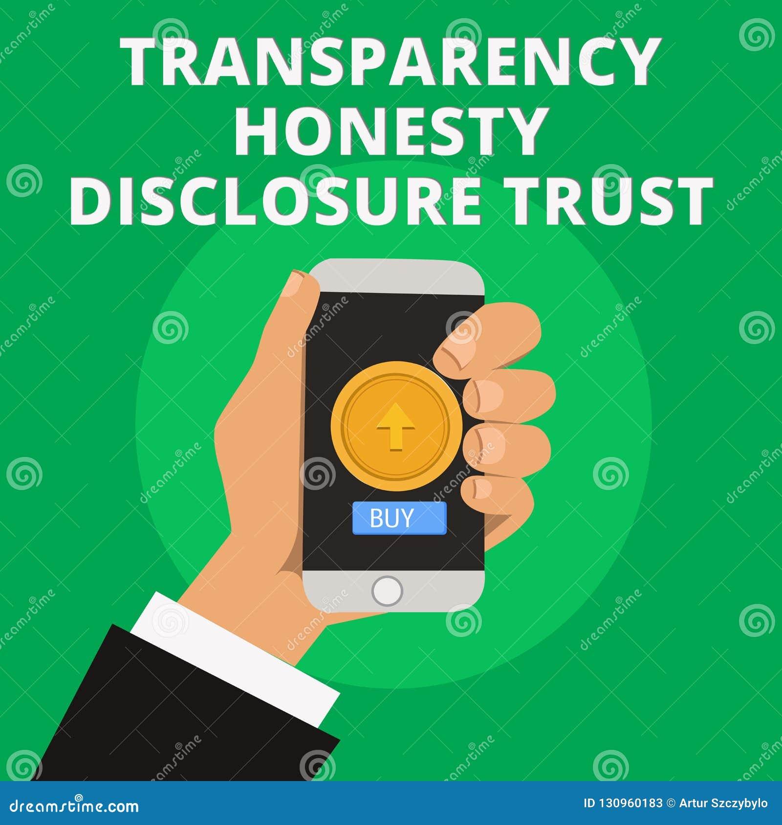 Orden del día político de la mano de la escritura de la demostración de la transparencia de la honradez del acceso de confianza d