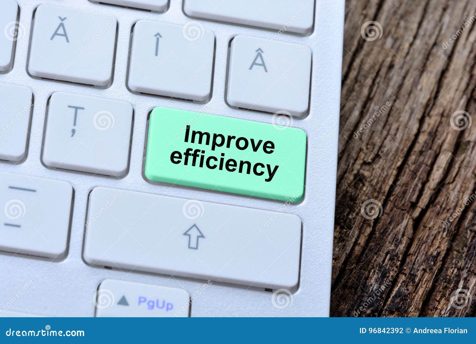 Orden förbättrar effektivitet på knappen för datortangentbordet