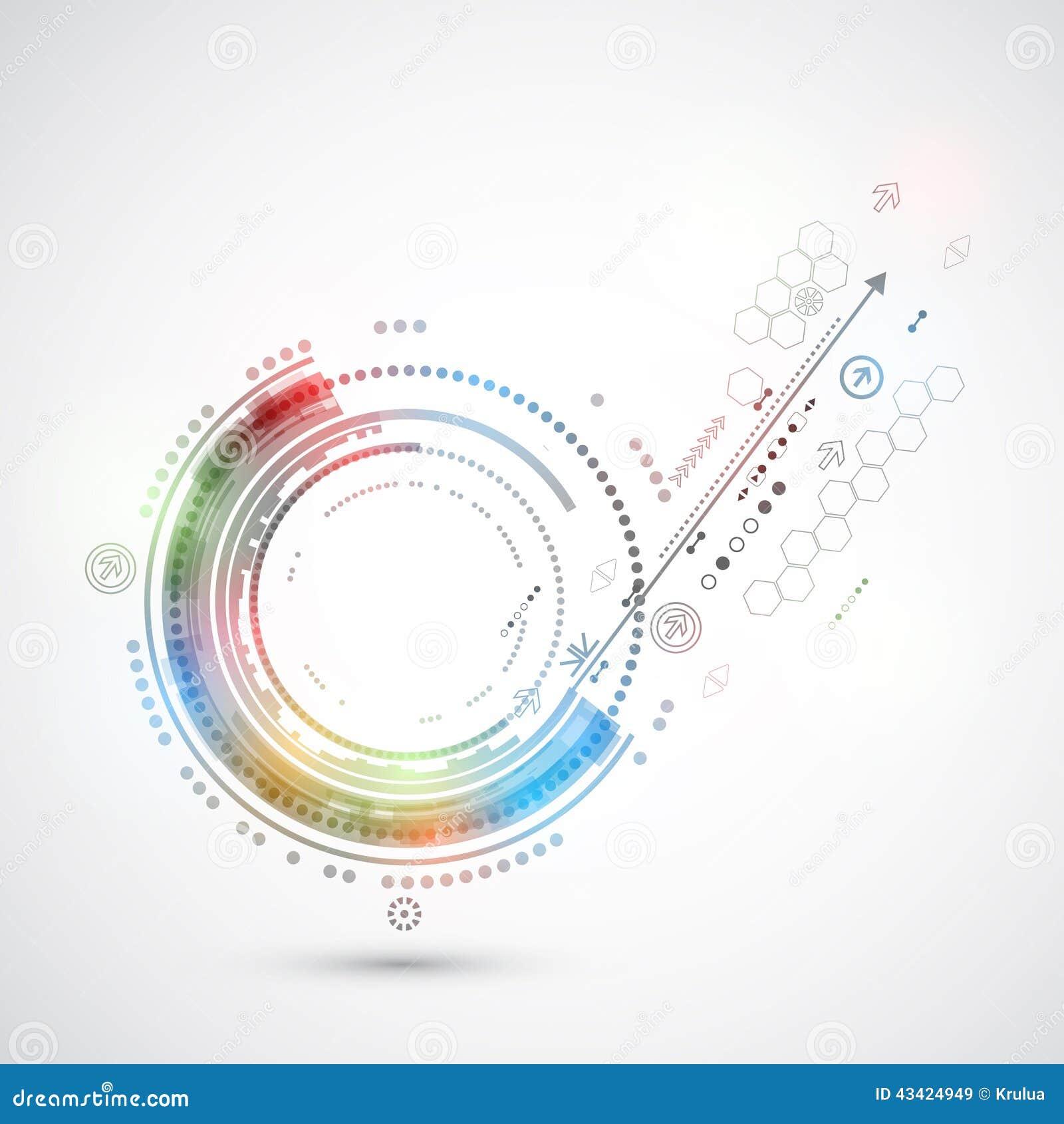 Ordenador abstracto del fondo de la tecnología del color/tema de la tecnología