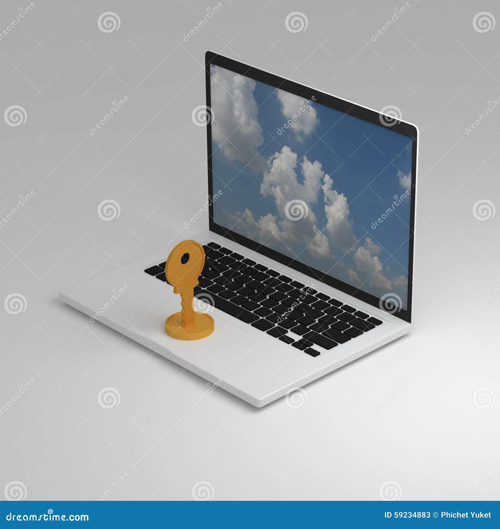 Download Ordenador en trabajo stock de ilustración. Ilustración de silla - 59234883