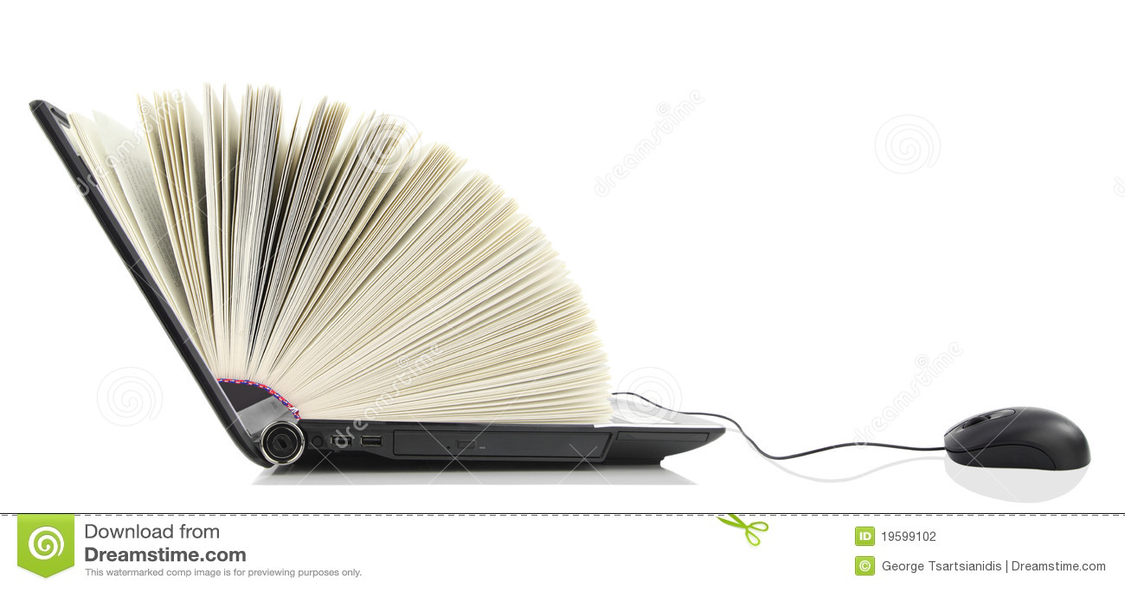 Ordenador portátil como libro