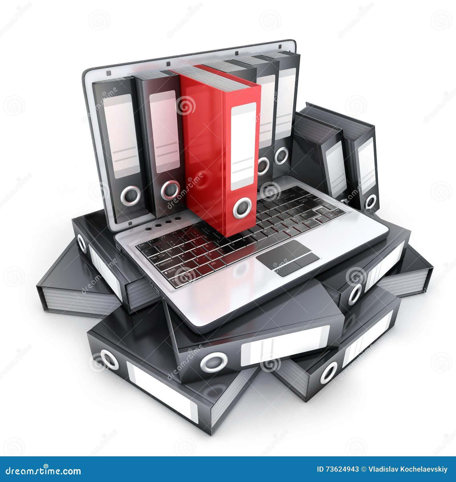 Ordenador portátil 3d y ficheros
