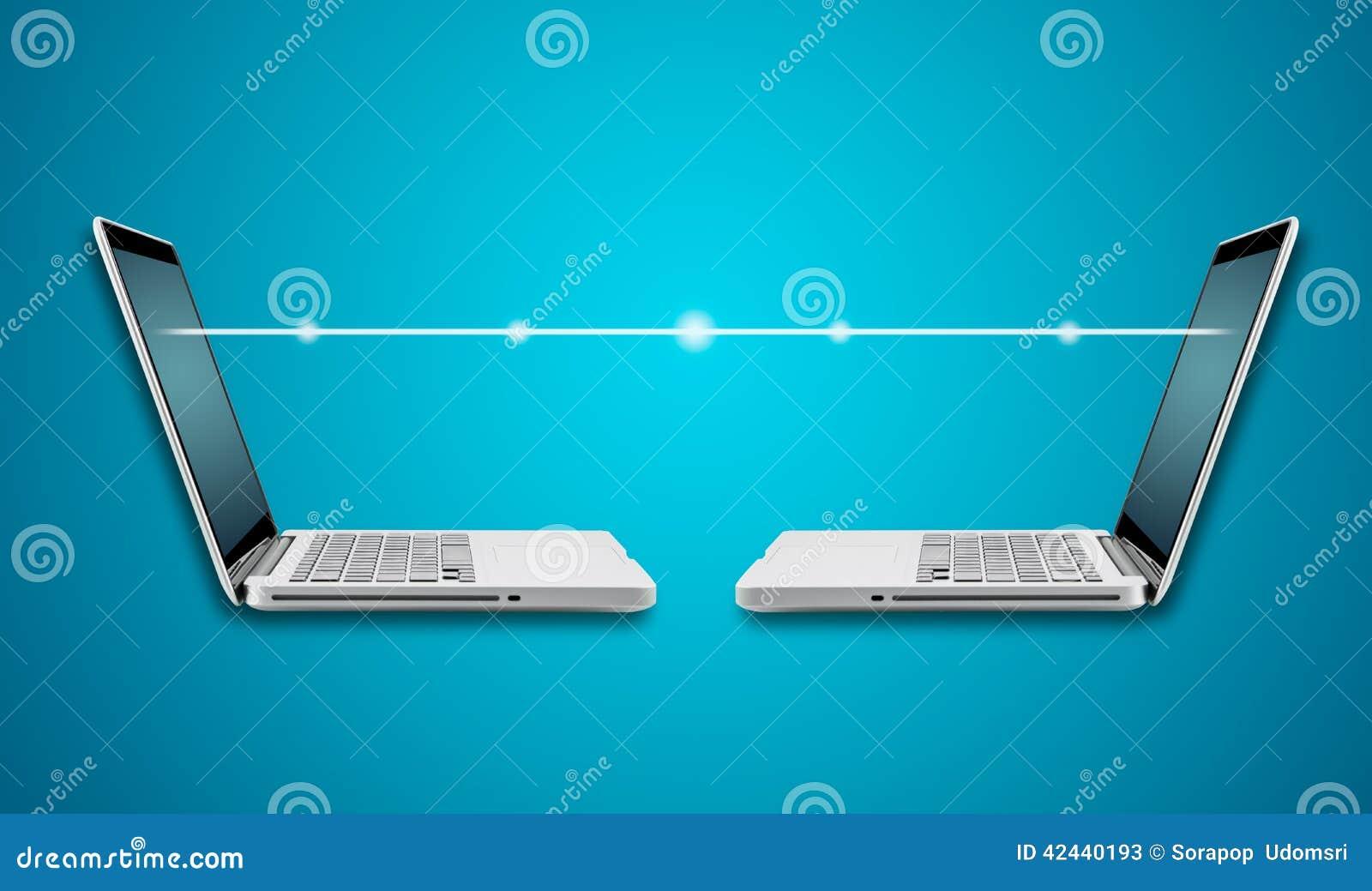 Ordenador portátil del ordenador con digital ligero