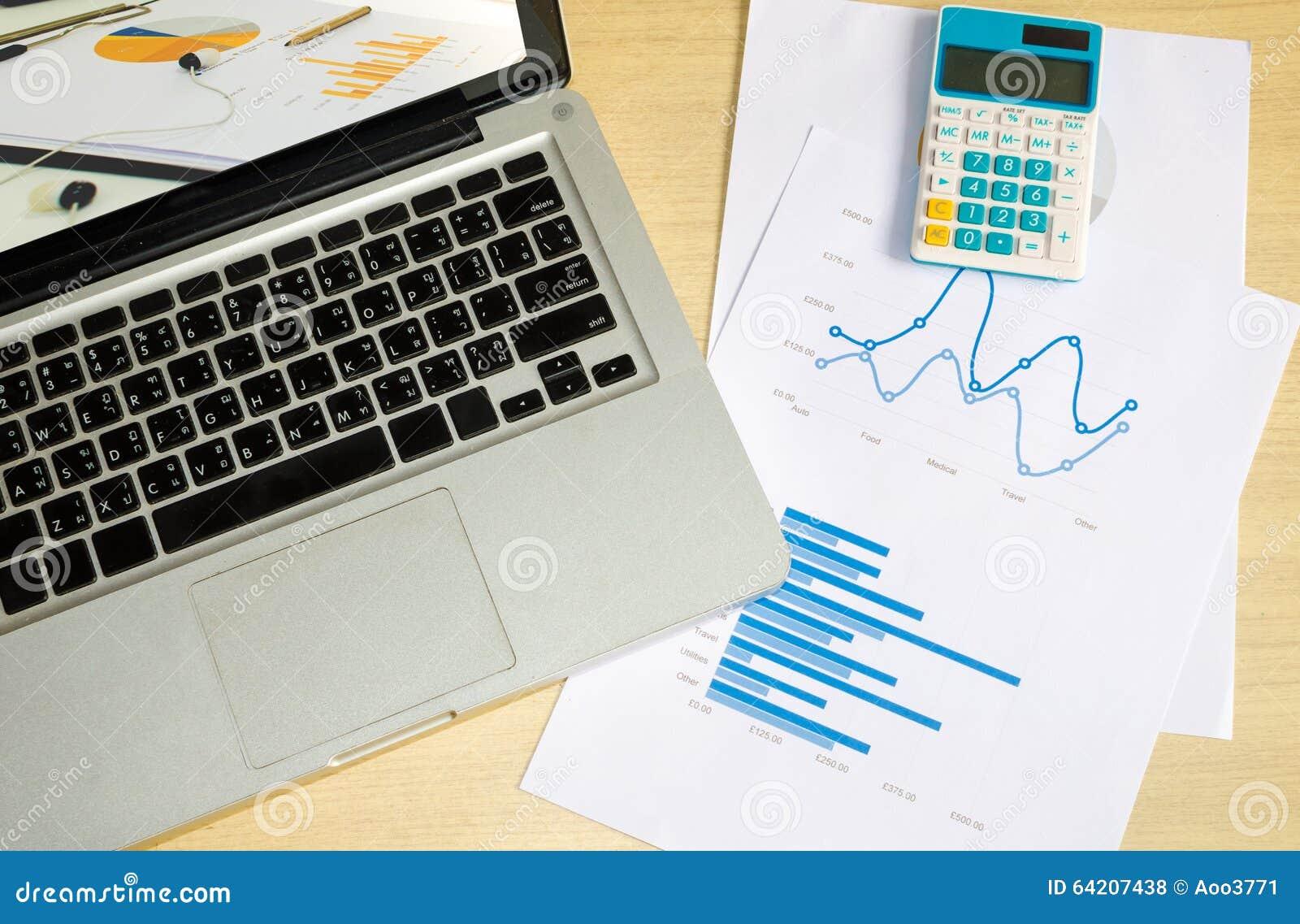 Ordenador portátil y gráfico