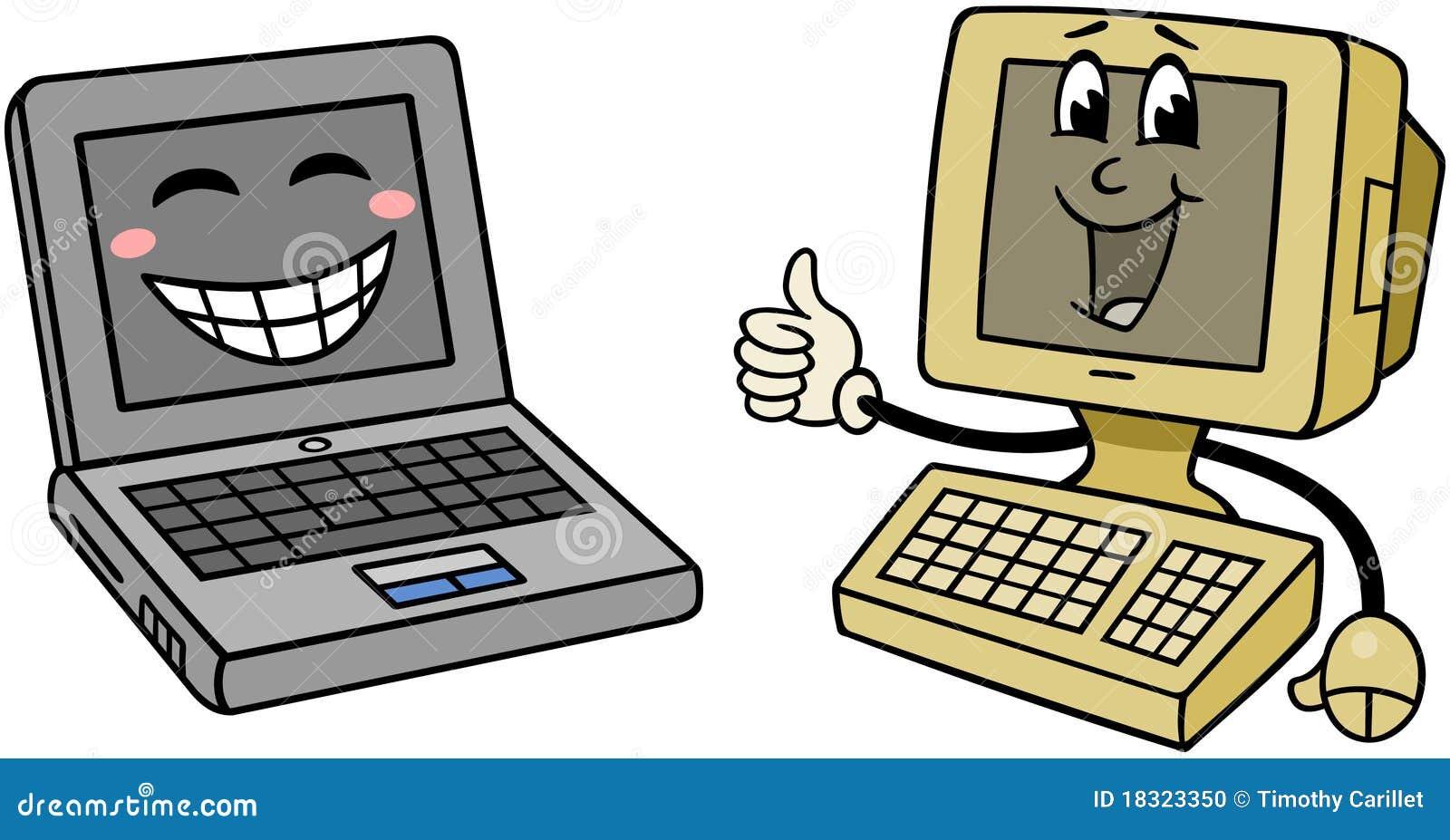 Ordenadores felices foto de archivo imagen 18323350 - Fotos de ordenadores ...