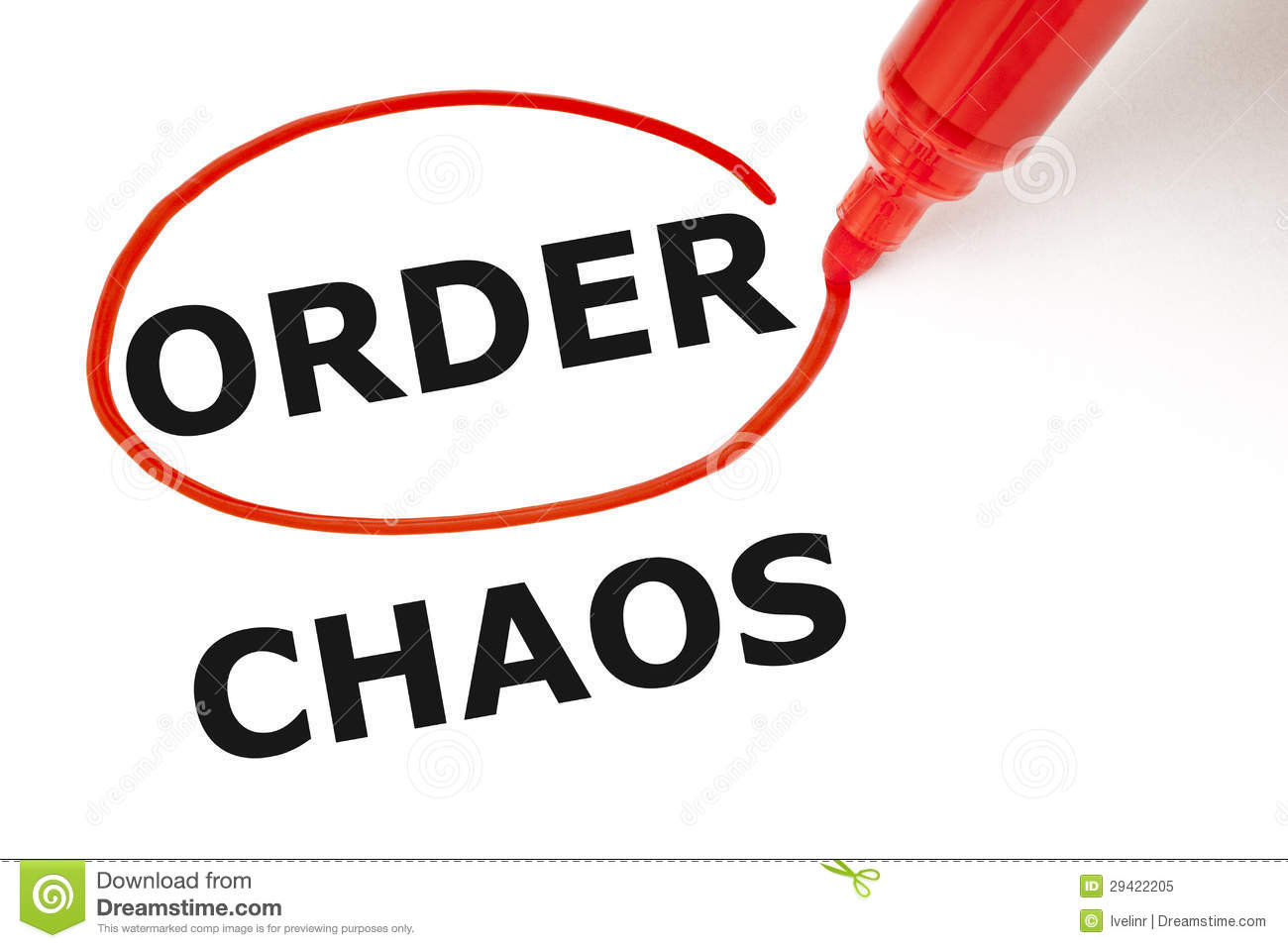 order or chaos stock image image of choose, chaos, management Order From choosing order instead of chaos order selected with red marker