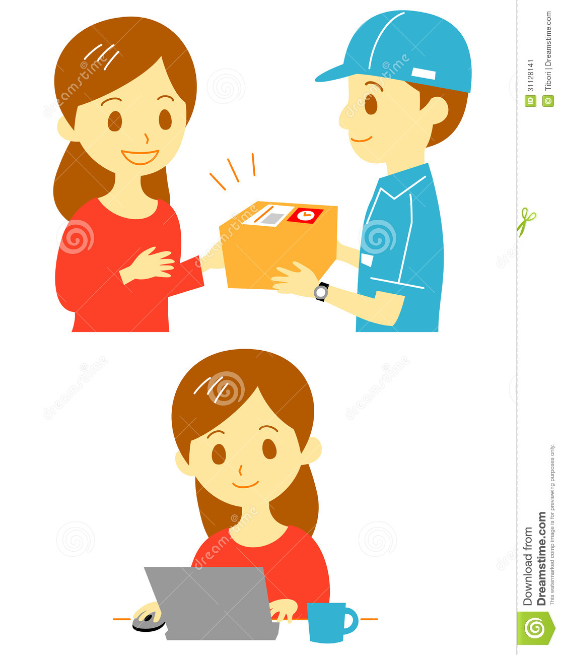 Order And Delivery Stock Image Image 31128141