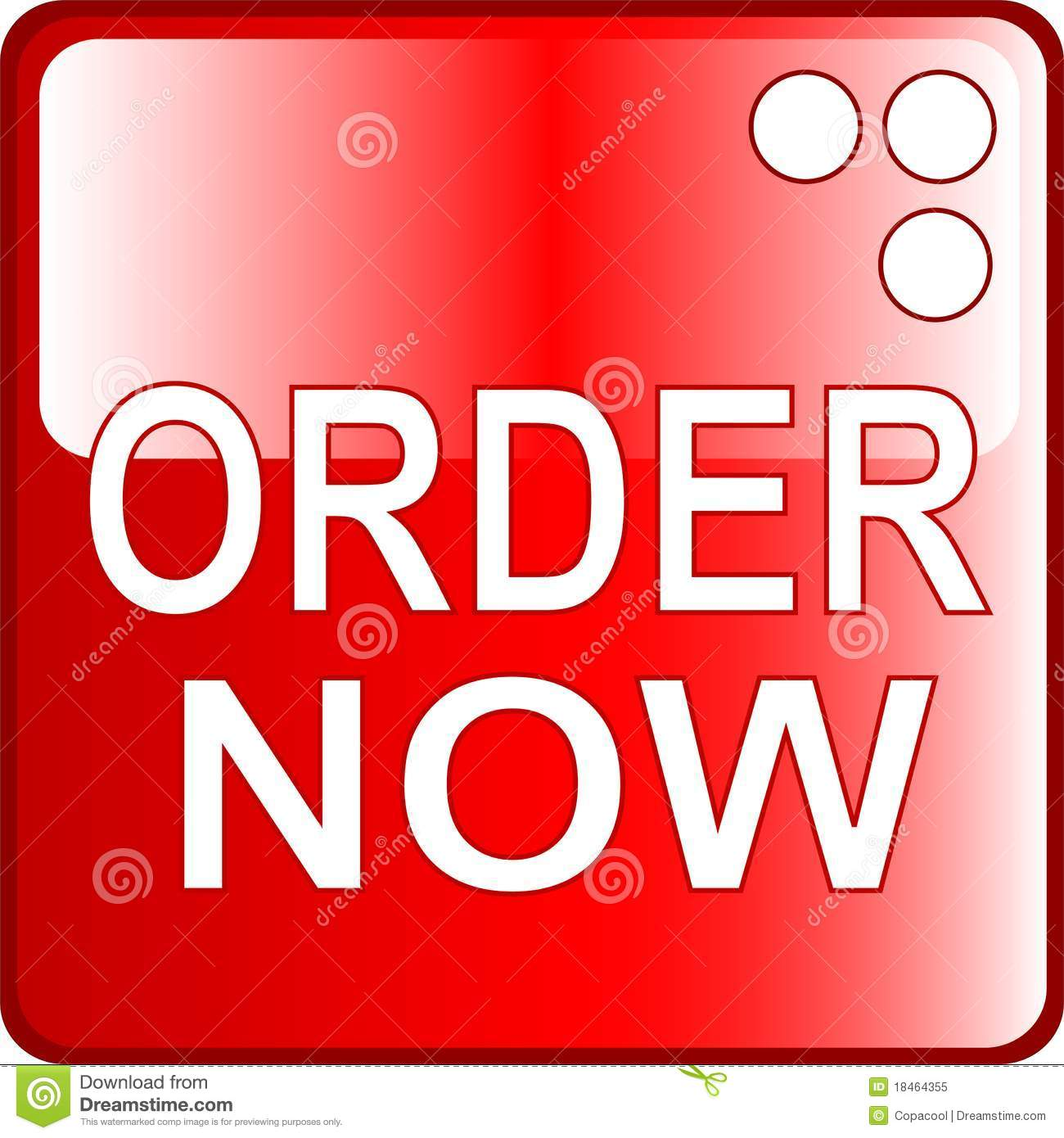 Buy From: ORDER NOW Red Web Button Royalty Free Stock Photo