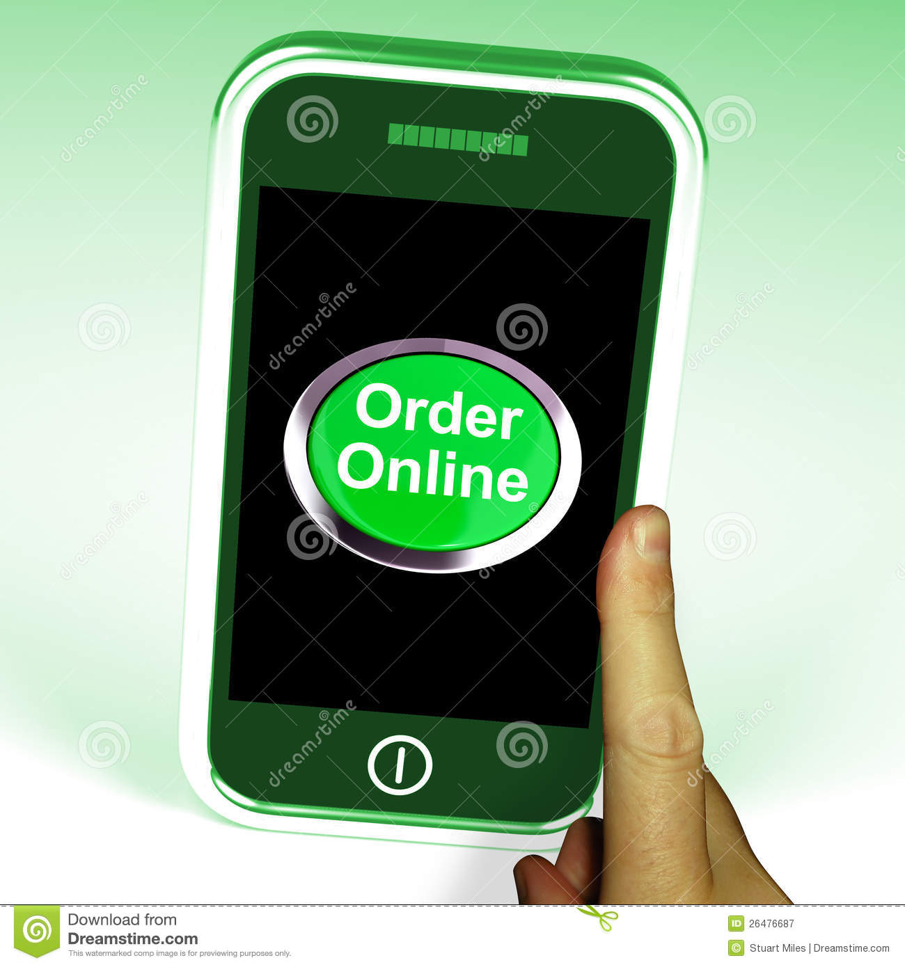 Order Online Button On Mobile Royalty Free Stock Photography - Image ...: www.dreamstime.com/royalty-free-stock-photography-order-online...