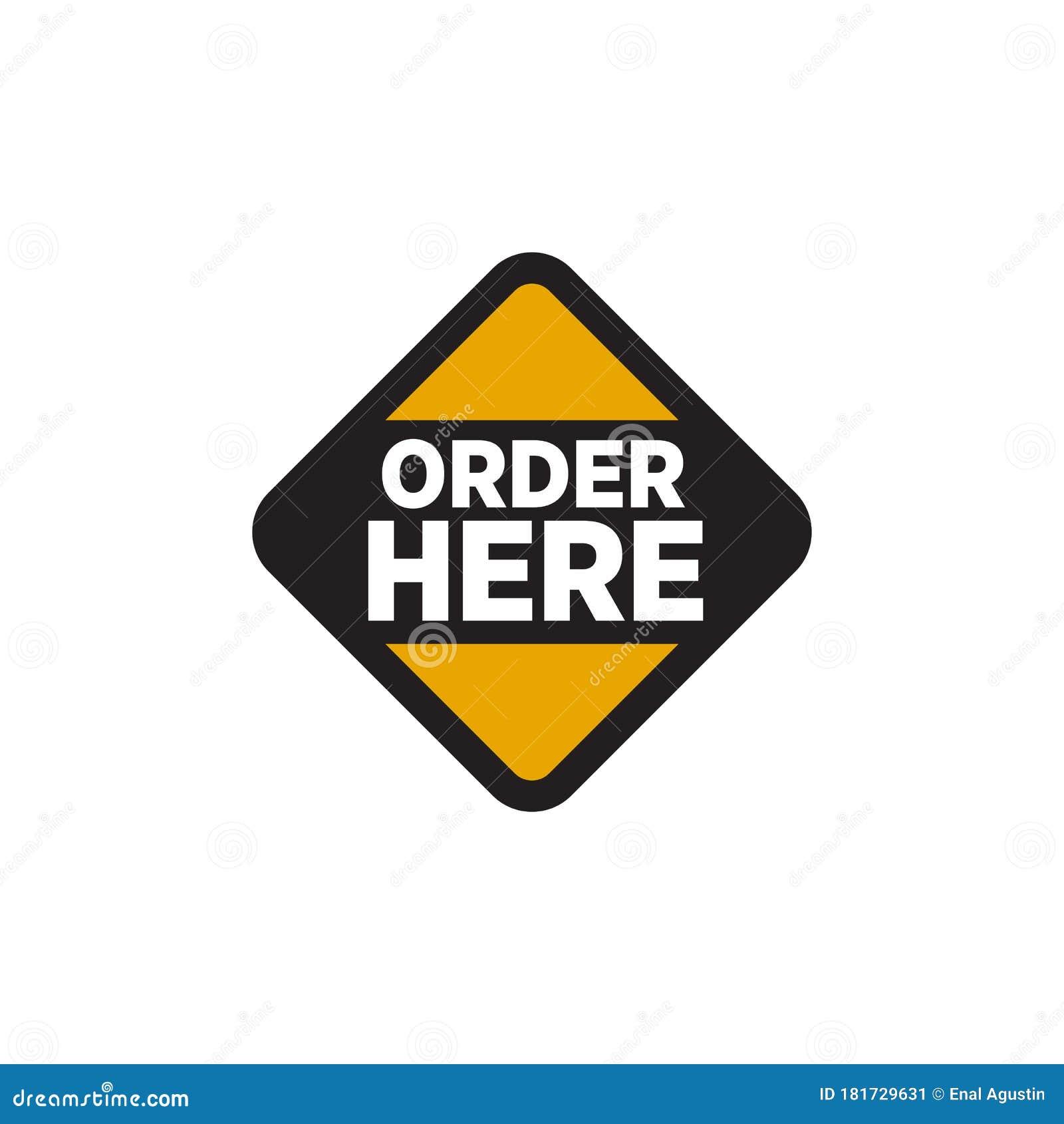 Order Sign Logo Design Template Stock Illustration Illustration Of Cafe Away 181729631