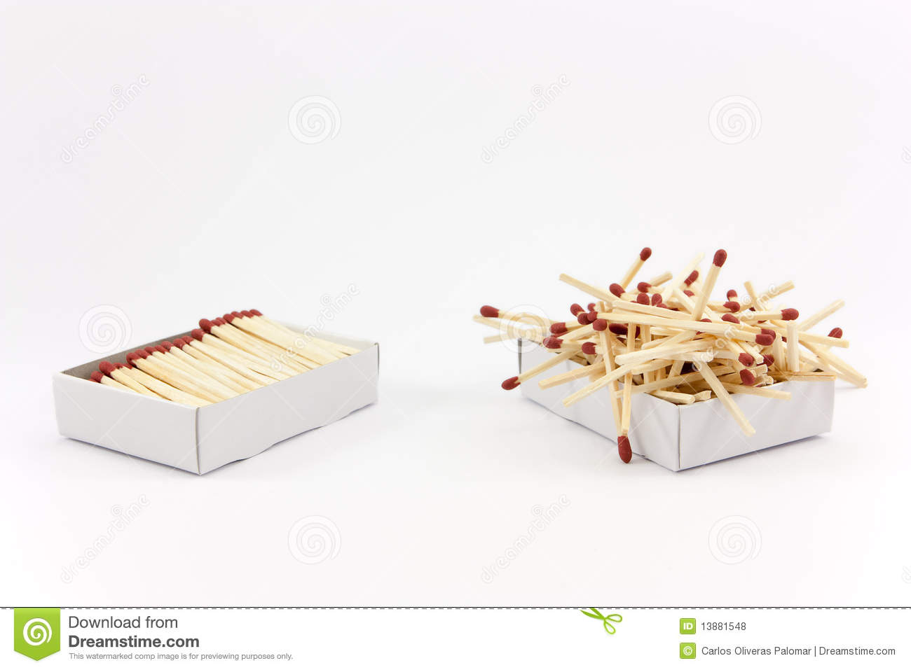 Order Vs Chaos Stock Photo Image Of White Match Chaotic
